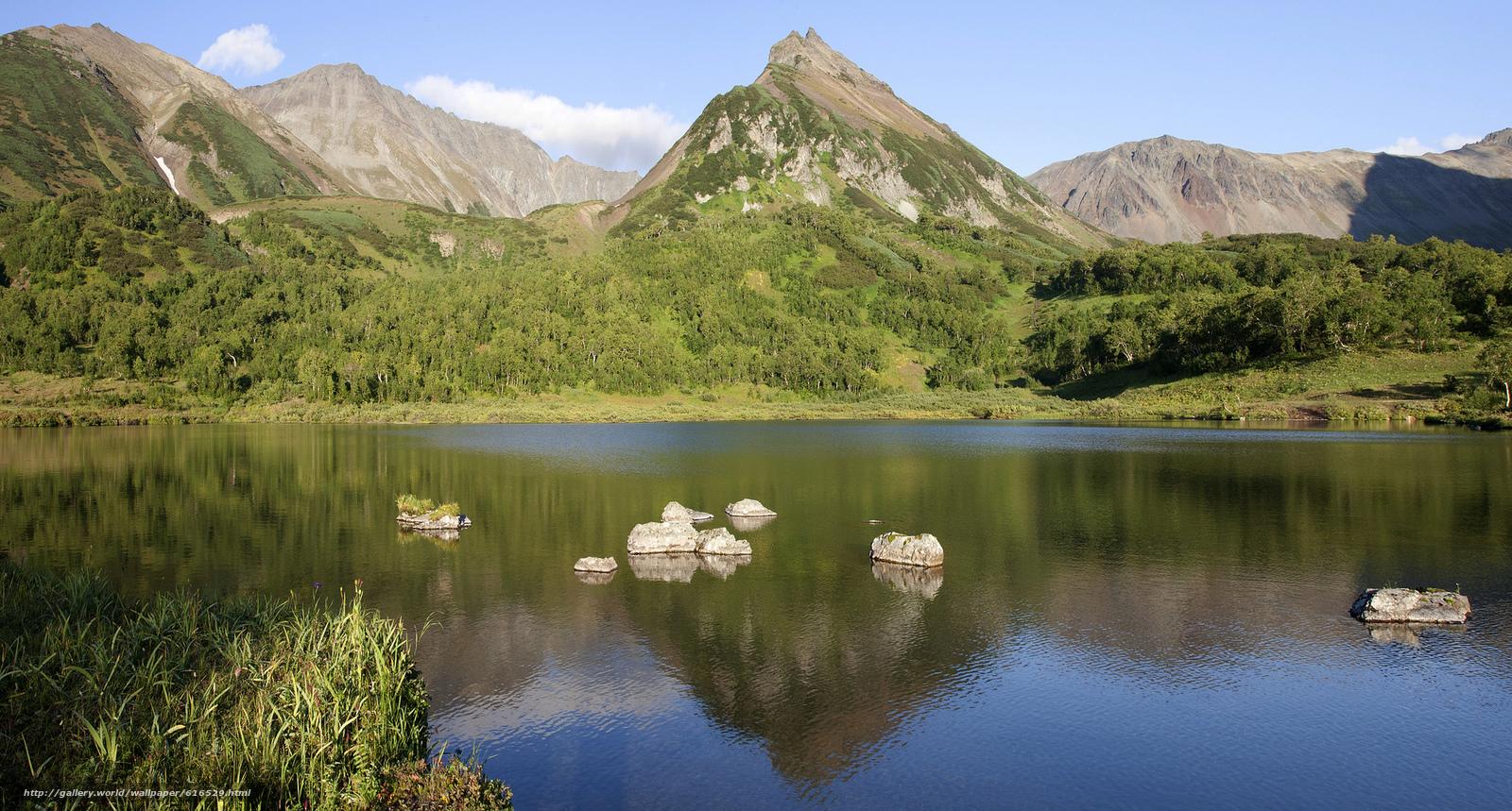 Скачать обои Природа,  горы,  вода,  лес бесплатно для рабочего стола в разрешении 2048x1099 — картинка №616529