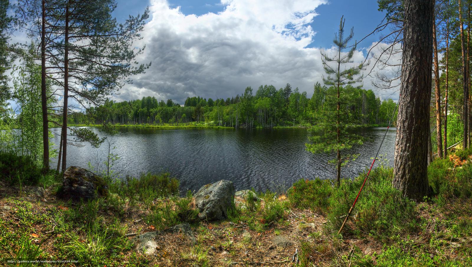 scaricare gli sfondi isola,  Kilpola,  Ladoga,  lago Sfondi gratis per la risoluzione del desktop 3000x1697 — immagine №616554