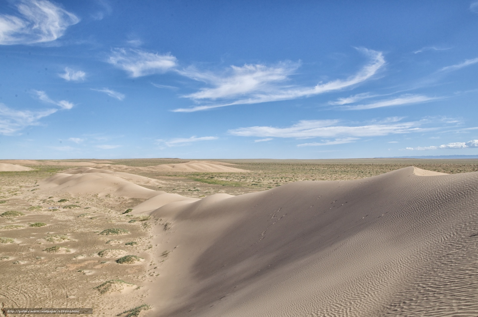 Скачать обои Бархан,  дюна,  песок,  пустыня бесплатно для рабочего стола в разрешении 4209x2796 — картинка №616690