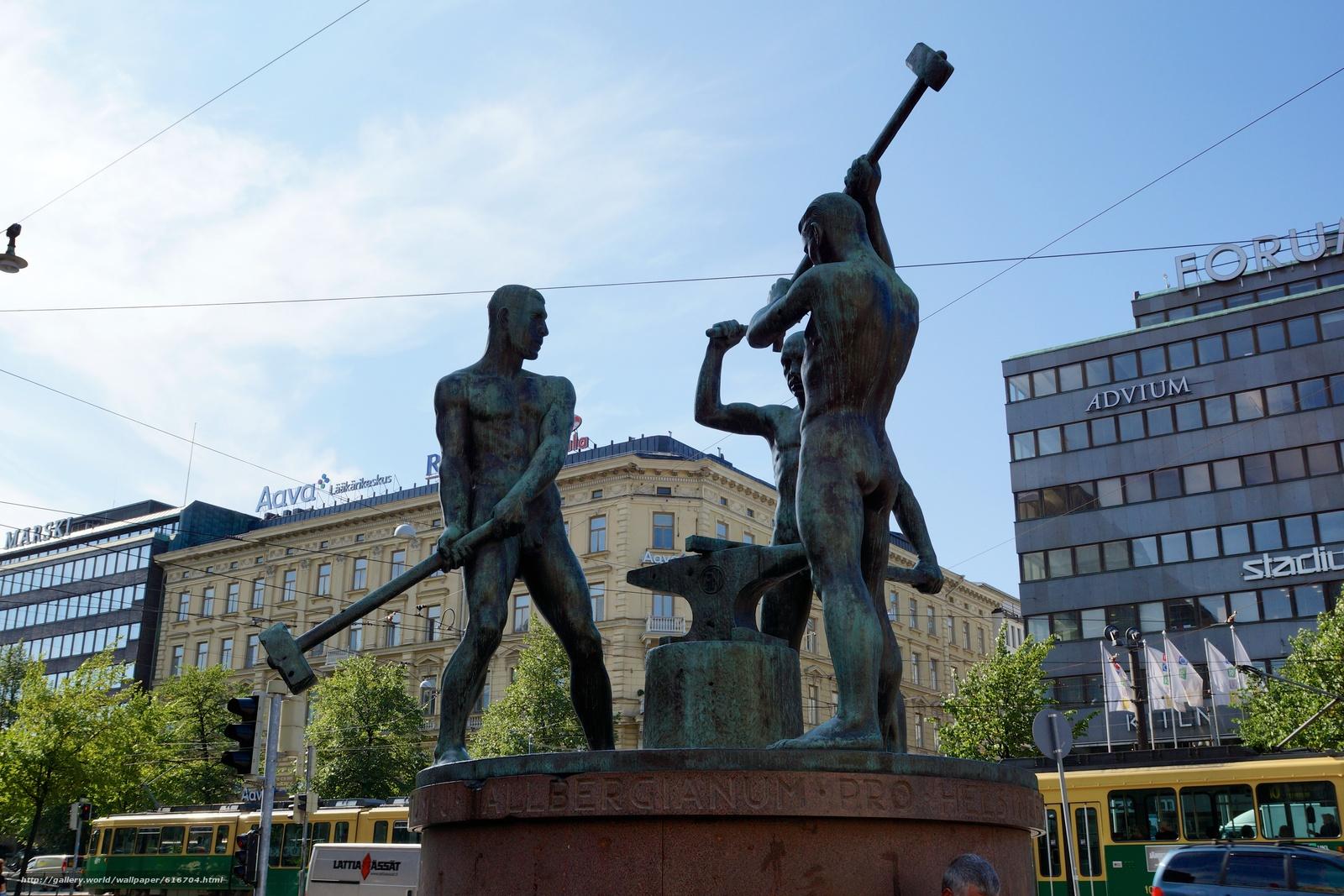 Download wallpaper sculpture,  statue,  Blacksmiths,  hammer free desktop wallpaper in the resolution 6000x4000 — picture №616704
