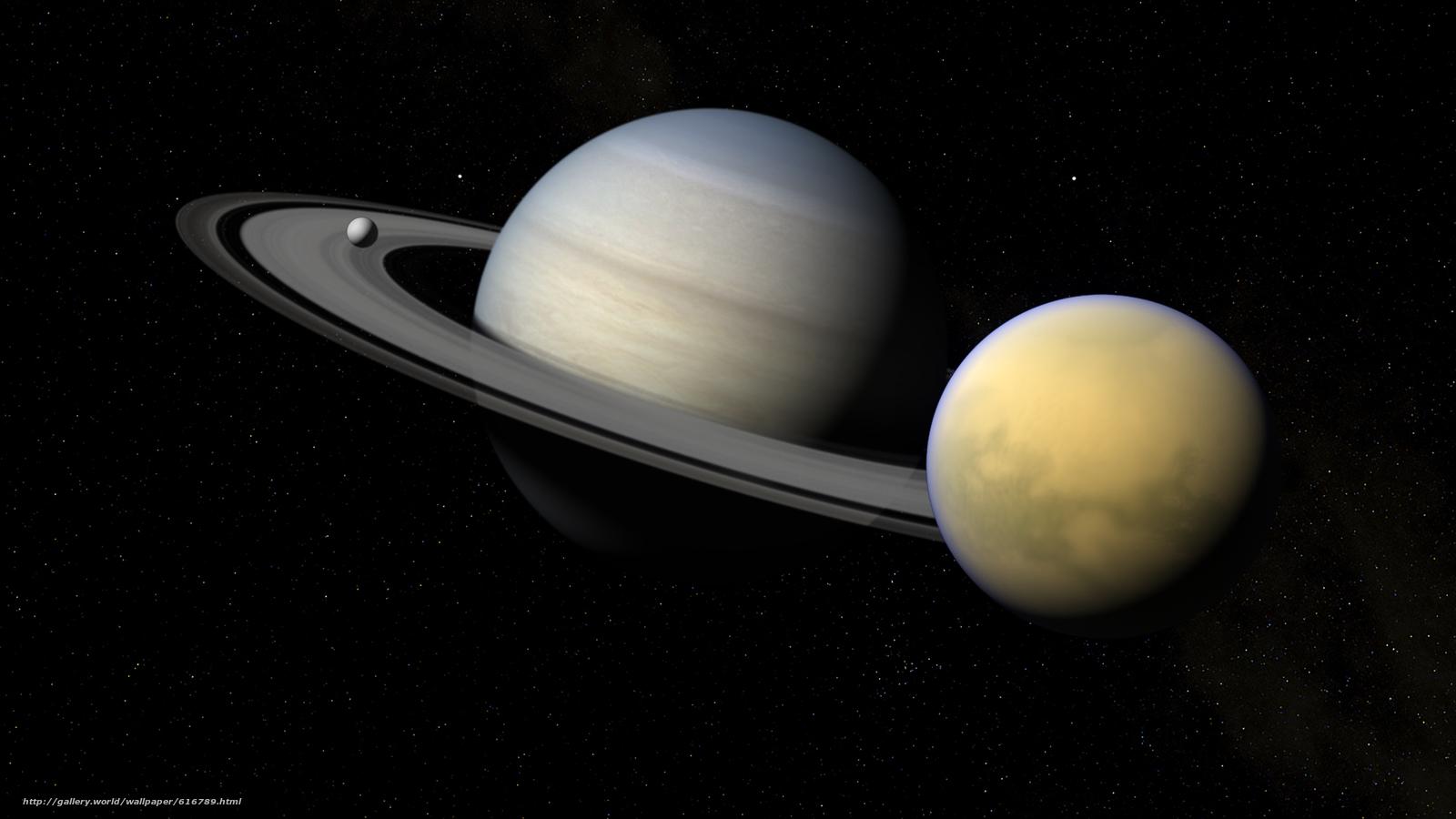 壁紙をダウンロード 土星 サテライト チタン エンケラドス デスクトップの解像度のための無料壁紙 19x1080 絵 6167