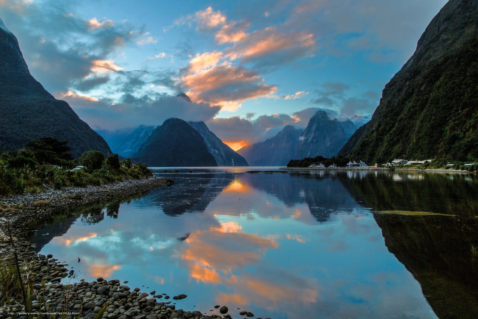 Video Nouvelle Zelande Gallery: Tlcharger Fond D'ecran Milford Sound, Nouvelle-Zélande
