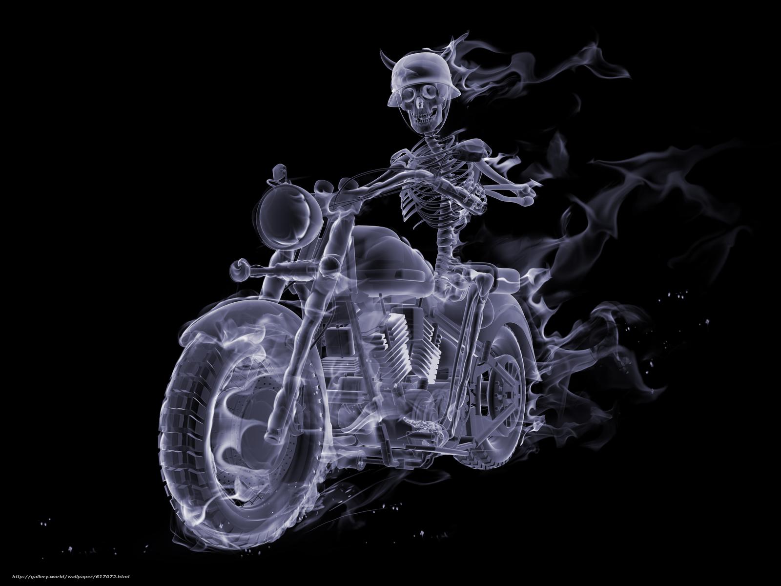 Скачать обои Fire,  Smoke,  Biker бесплатно для рабочего стола в разрешении 5000x3750 — картинка №617072