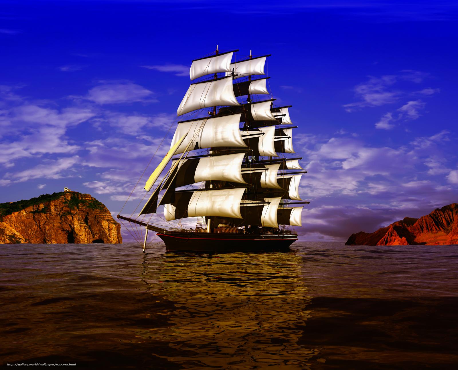 Скачать обои 3D,  ancient,  ship,  sailboat бесплатно для рабочего стола в разрешении 6528x5280 — картинка №617348