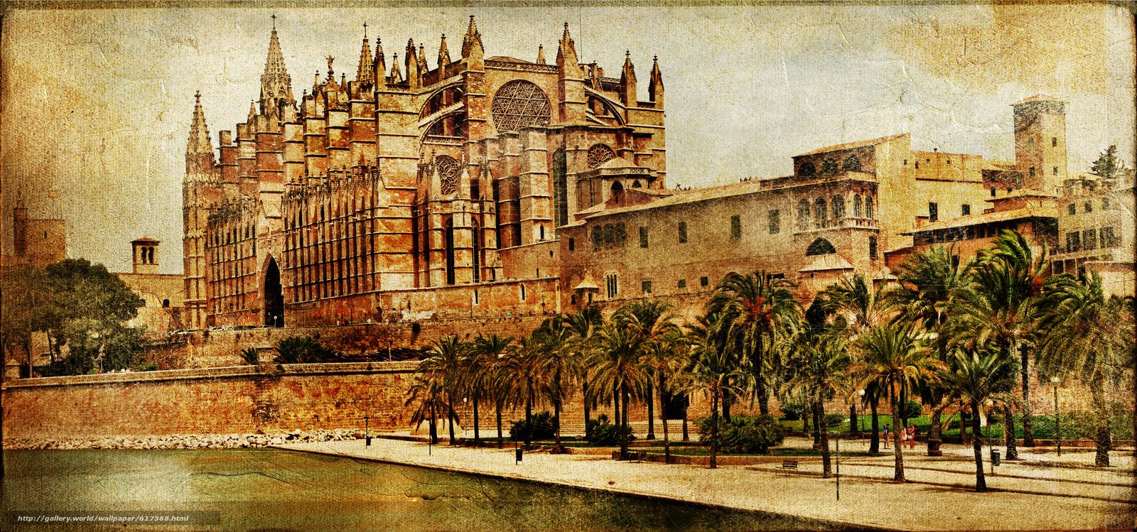 Download wallpaper Mallorca cathedral, Palma de Mallorca  -> Vintage Möbel Palma De Mallorca