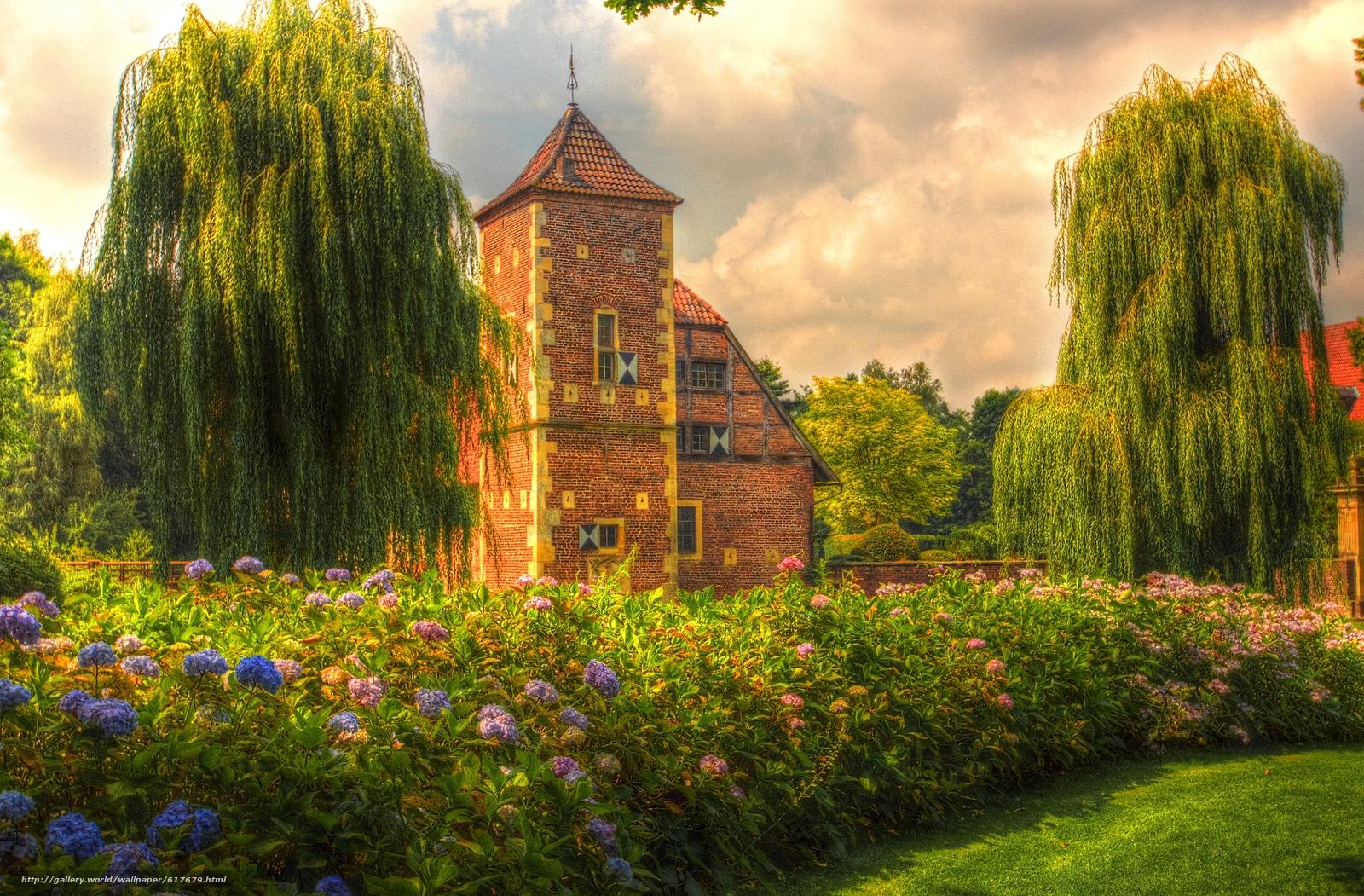 下载壁纸 家,  城堡,  树,  花卉 免费为您的桌面分辨率的壁纸 4705x3092 — 图片 №617679