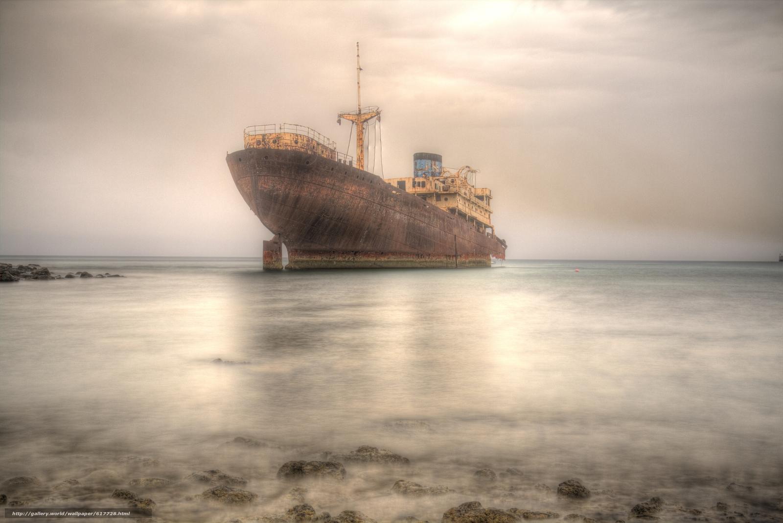 Download wallpaper ship,  ship,  rusty,  sea free desktop wallpaper in the resolution 5496x3670 — picture №617728