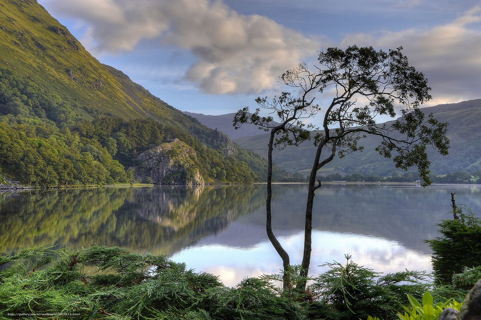 Download wallpaper Gwynant Lake,  Nant Gwynant valley,  Snowdonia National Park,  Snowdonia free desktop wallpaper in the resolution 2560x1703 — picture №617813