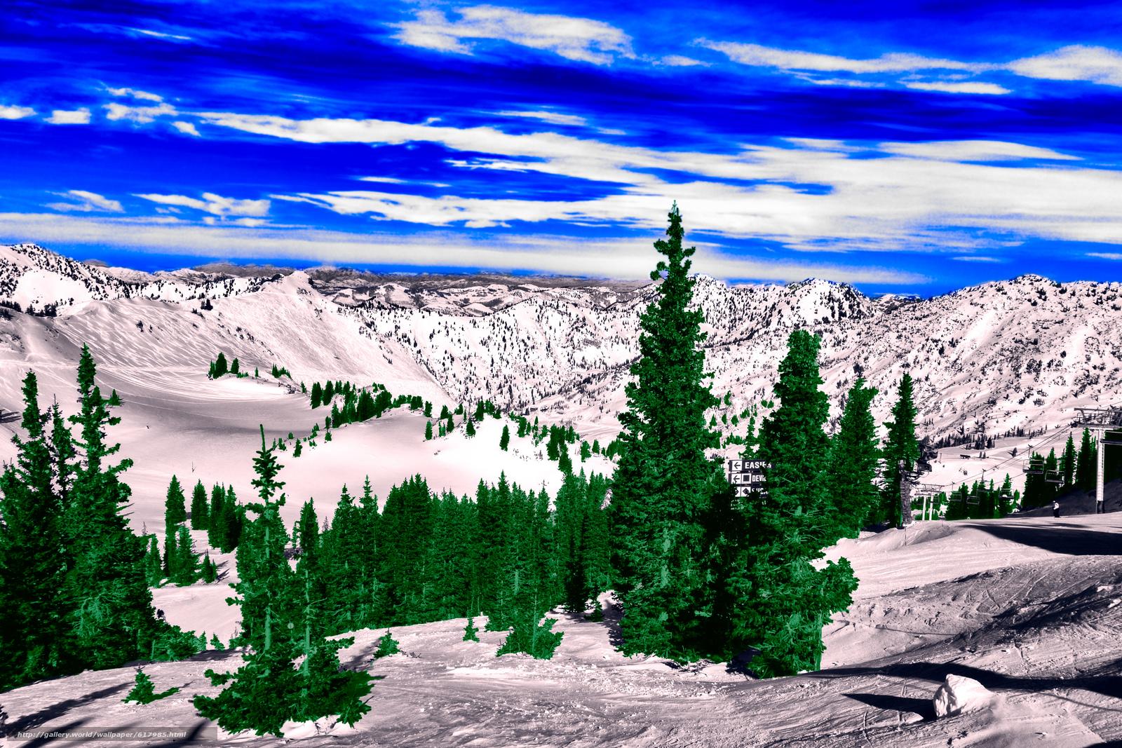 壁紙をダウンロード 冬,  山脈,  木,  風景 デスクトップの解像度のための無料壁紙 4931x3288 — 絵 №617985