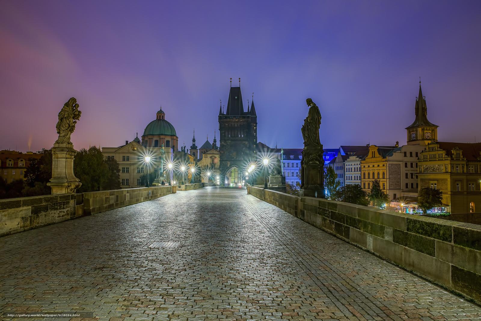 Download wallpaper Czech Republic,  Charles Bridge,  Prague free desktop wallpaper in the resolution 2048x1365 — picture №618054
