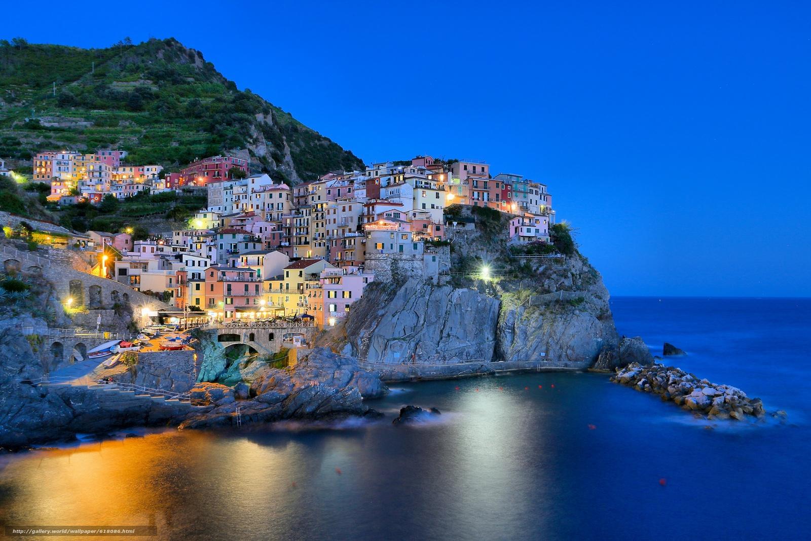 Скачать обои Manarola,  Cinque Terre,  Italy бесплатно для рабочего стола в разрешении 2700x1800 — картинка №618086