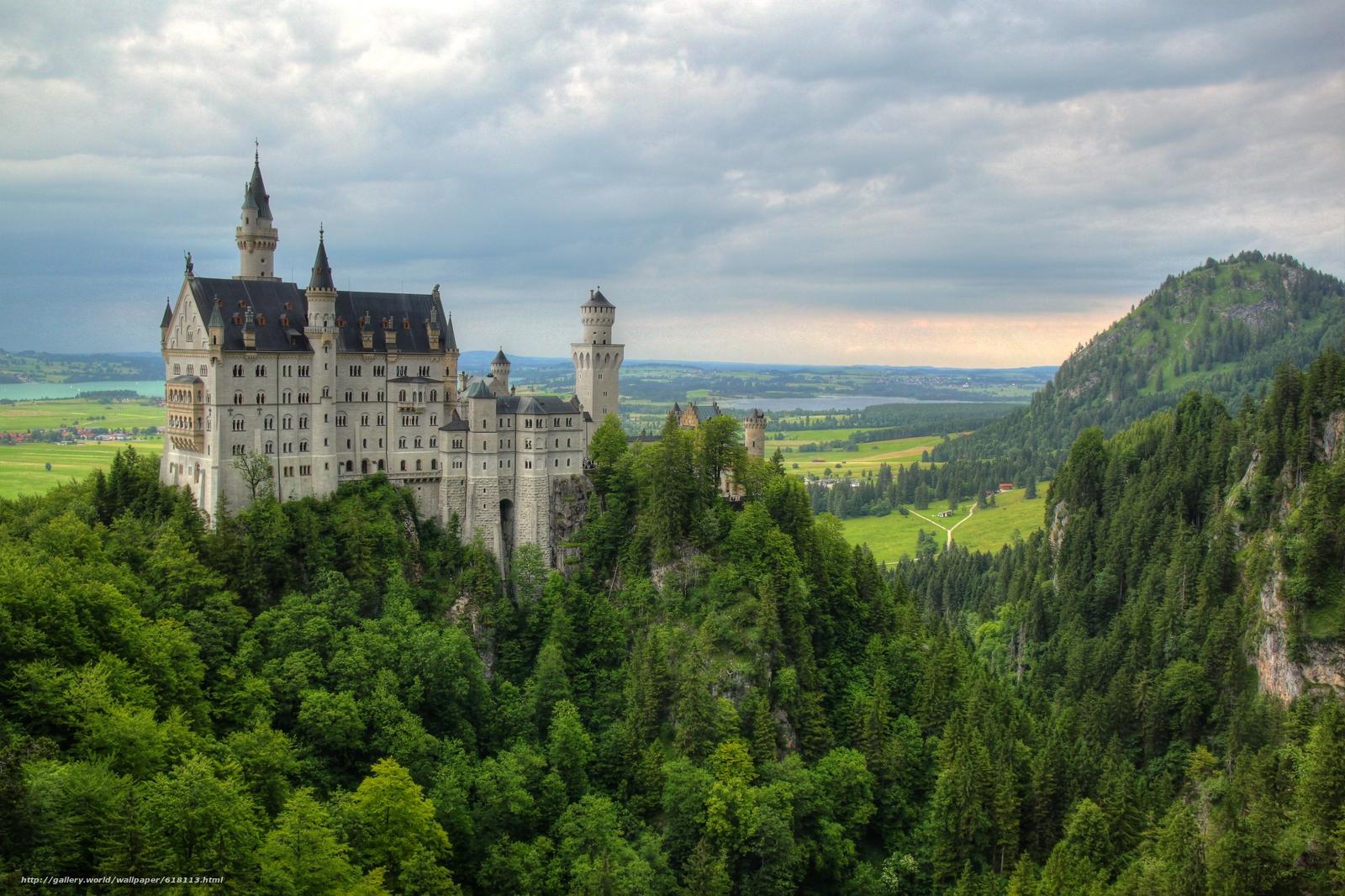 scaricare gli sfondi Castello di Neuschwanstein,  Baviera,  Germania,  Castello di Neuschwanstein Sfondi gratis per la risoluzione del desktop 4744x3160 — immagine №618113