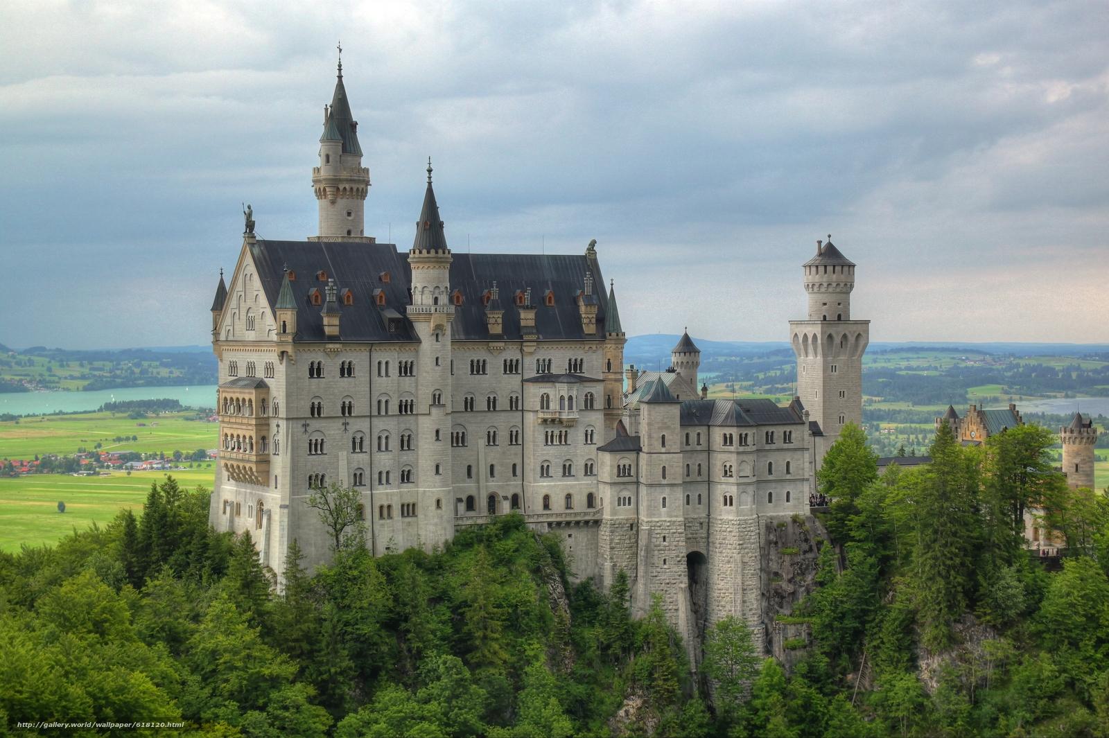 scaricare gli sfondi Castello di Neuschwanstein,  Baviera,  Germania,  Castello di Neuschwanstein Sfondi gratis per la risoluzione del desktop 4747x3160 — immagine №618120