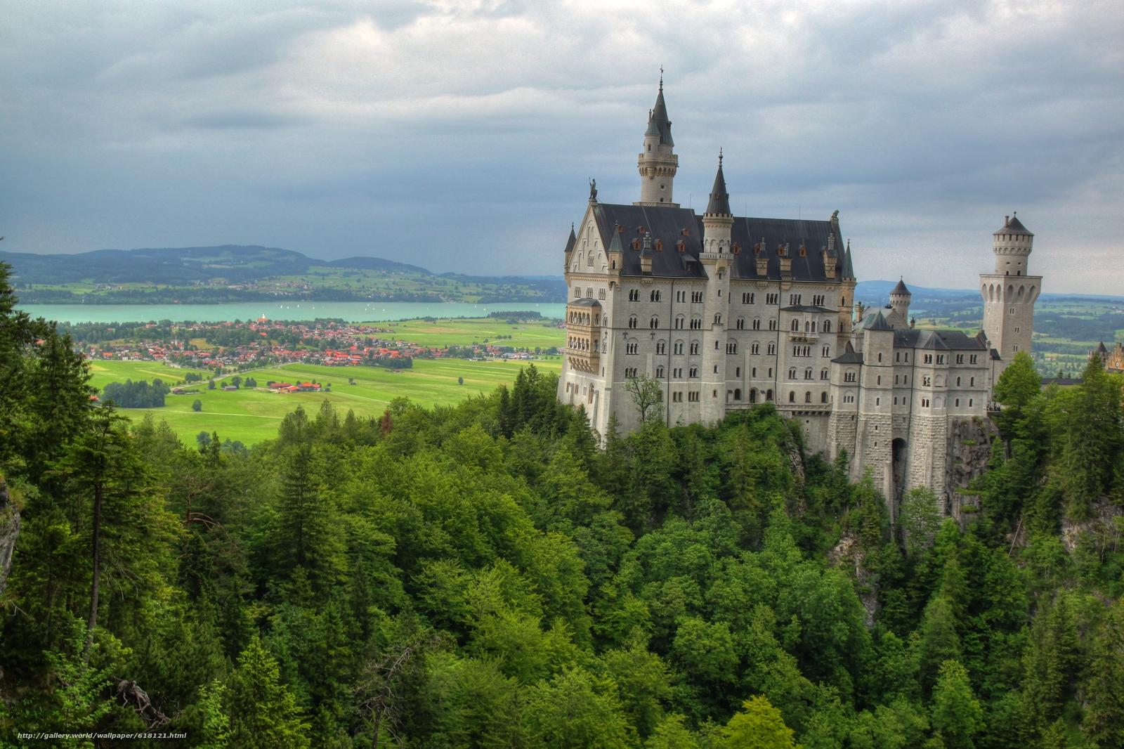 scaricare gli sfondi Castello di Neuschwanstein,  Baviera,  Germania,  Castello di Neuschwanstein Sfondi gratis per la risoluzione del desktop 4741x3158 — immagine №618121