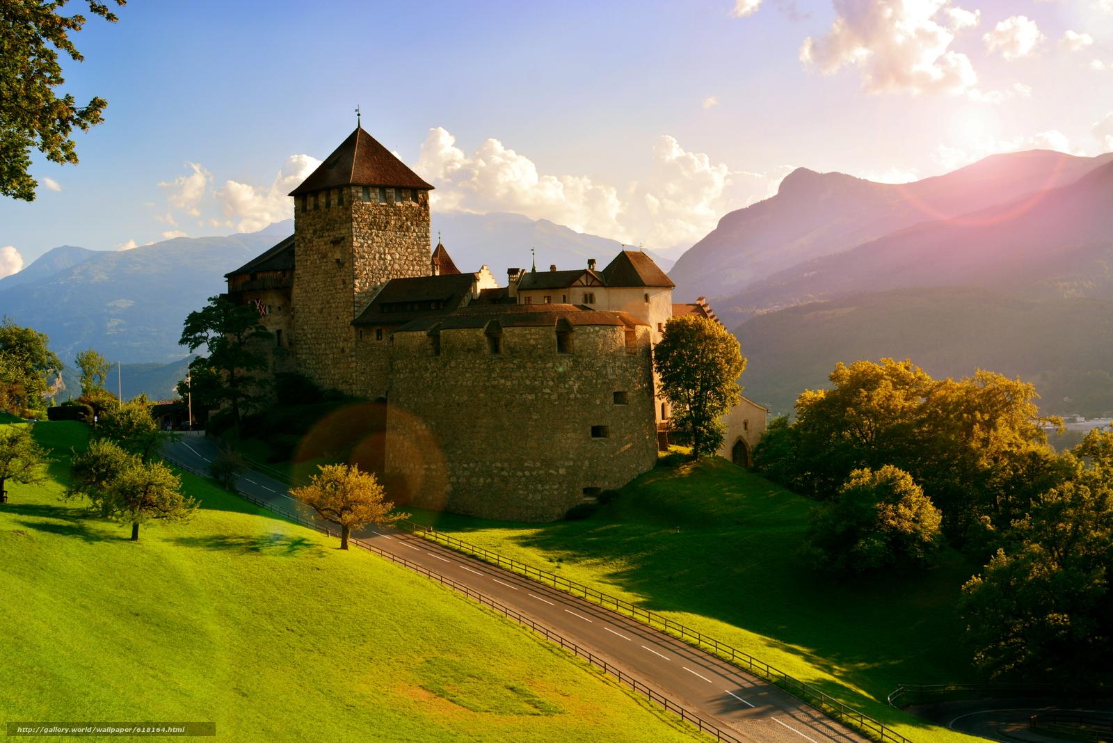 scaricare gli sfondi Castello di Vaduz,  Vaduz,  Liechtenstein,  Alpi Sfondi gratis per la risoluzione del desktop 4496x3000 — immagine №618164
