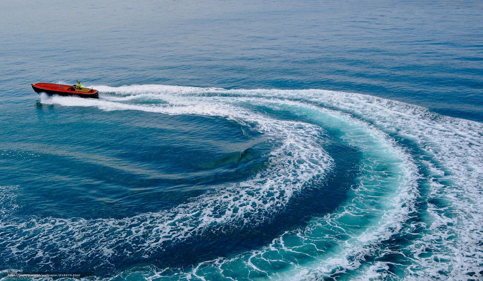Скачать обои Gulf of Lion,  Лионский залив,  море,  катер бесплатно для рабочего стола в разрешении 2048x1192 — картинка №618275