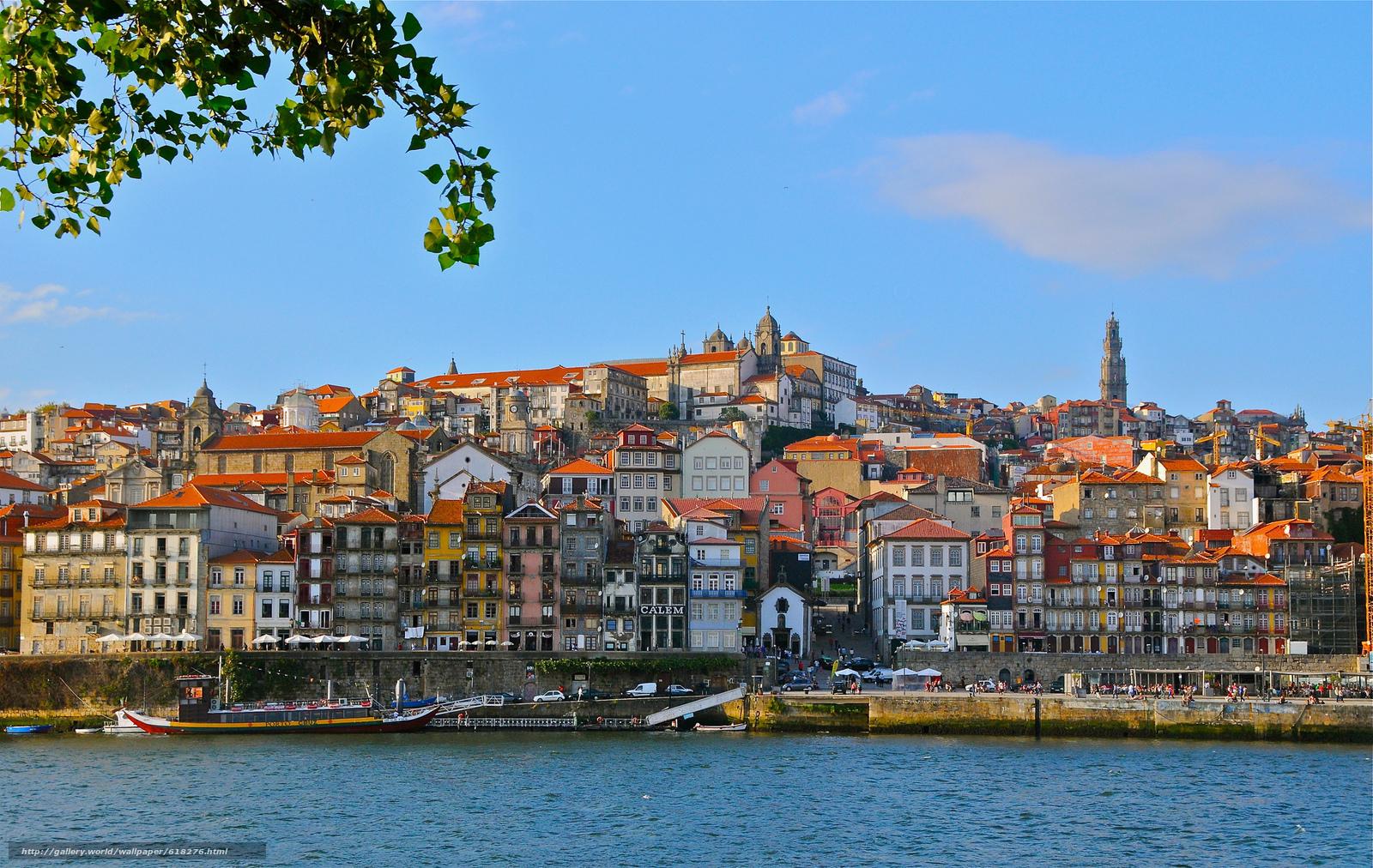 Скачать обои Vila Nova de Gaia,  Porto,  Portugal,  Douro River бесплатно для рабочего стола в разрешении 2048x1295 — картинка №618276