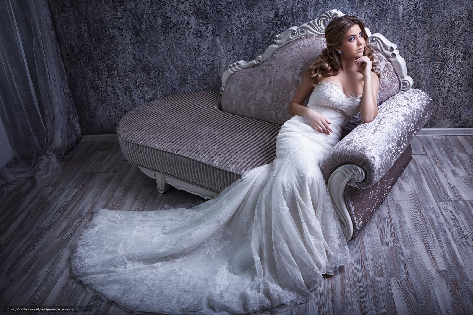 Скачать обои невеста,  свадебное платье,  платье,  диван бесплатно для рабочего стола в разрешении 5472x3648 — картинка №618360