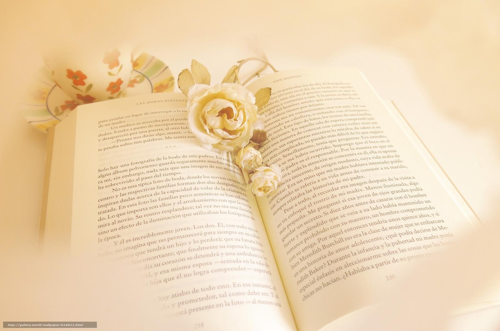 Скачать обои книга,  цветы,  стиль бесплатно для рабочего стола в разрешении 2048x1357 — картинка №618911