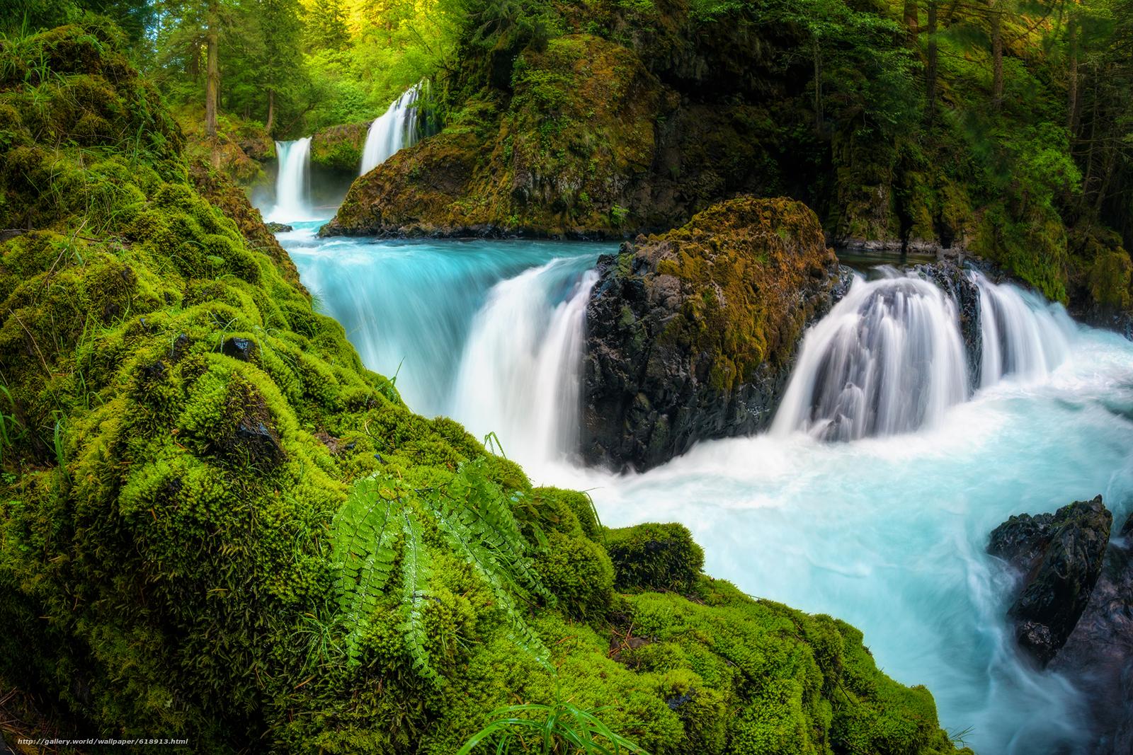 Spirit Falls, Columbia River Gorge, Washington, Columbia River ...