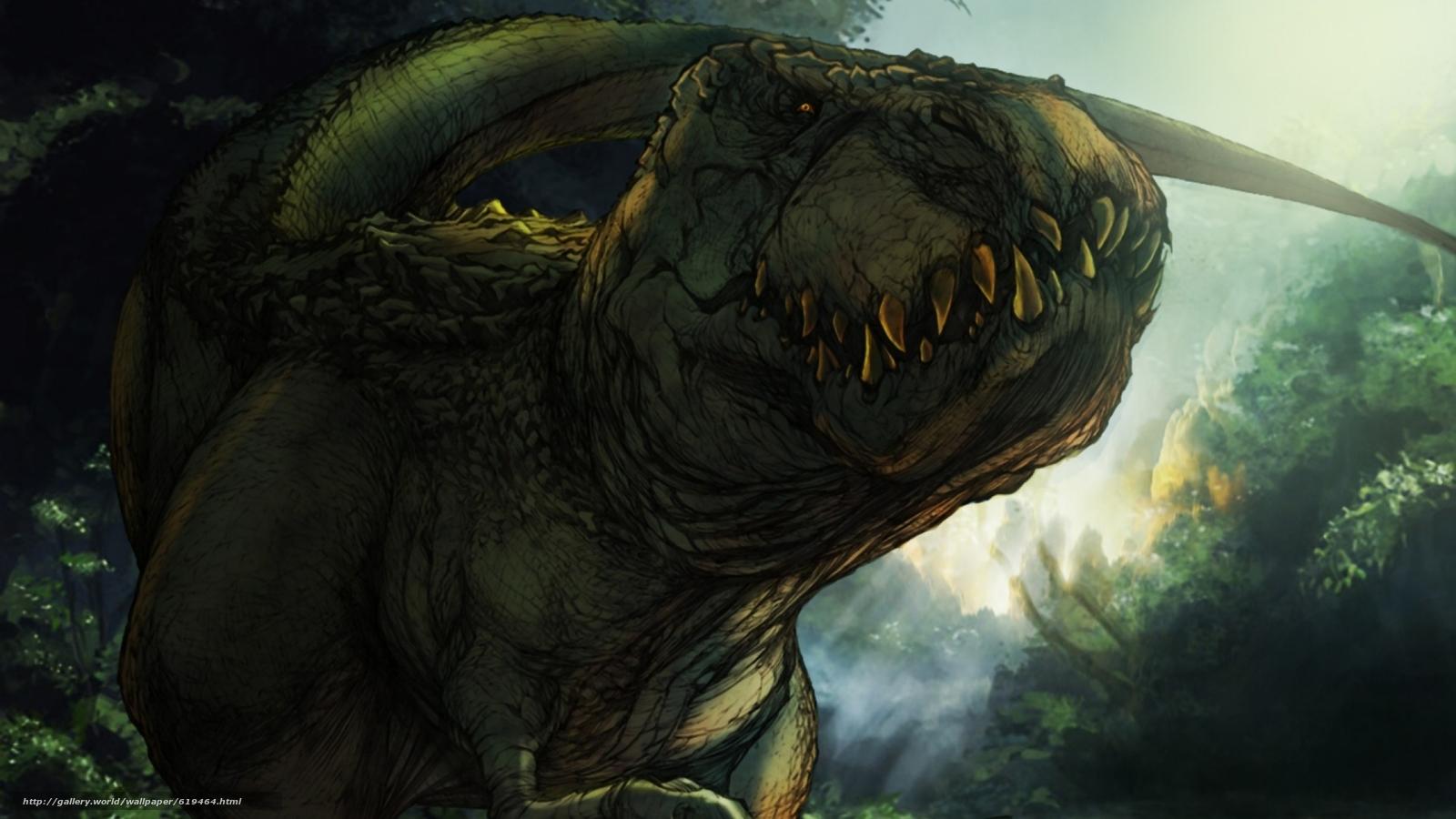 Descargar gratis Tyrannosaurus,  dinosaurios,  Animales antiguos Fondos de escritorio en la resolucin 2560x1440 — imagen №619464