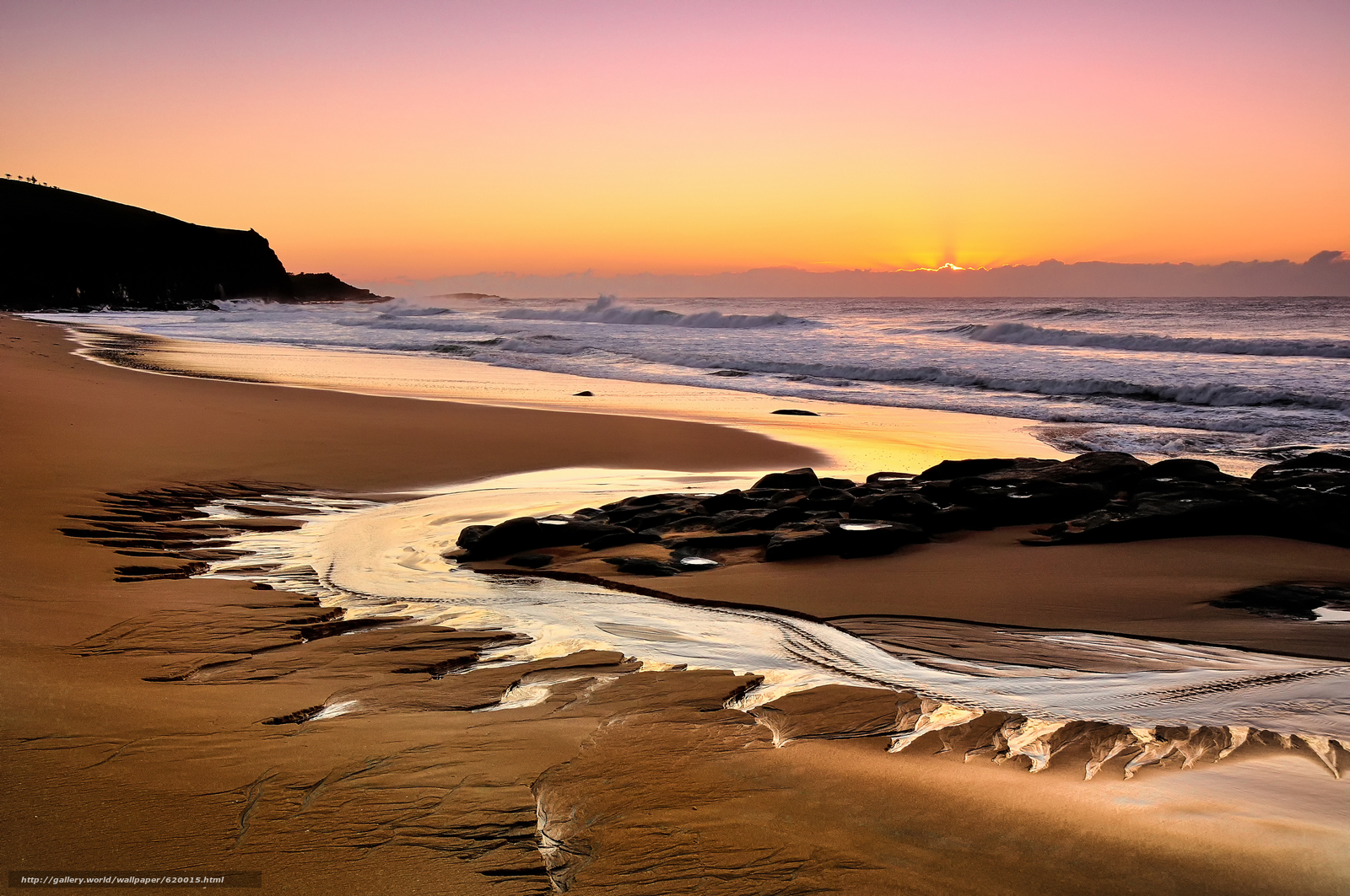 Download wallpaper Beach South Wales,  Australia,  sunset,  landscape free desktop wallpaper in the resolution 4000x2657 — picture №620015