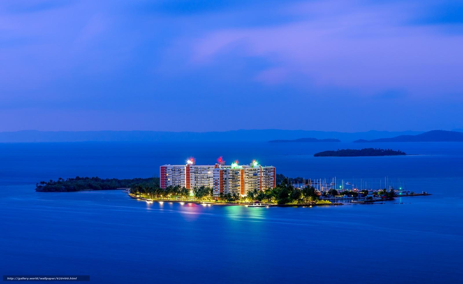 Скачать обои Isleta Marina,  Fajardo,  Puerto Rico,  Atlantic Ocean бесплатно для рабочего стола в разрешении 2048x1254 — картинка №620490