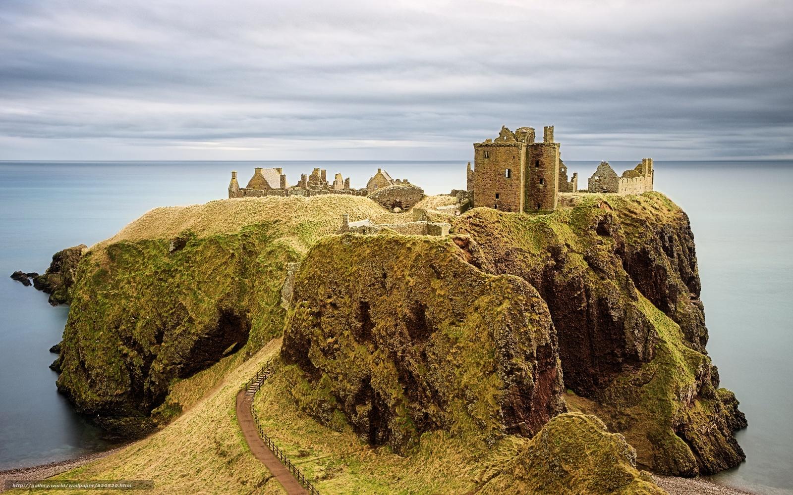scaricare gli sfondi Castello di Dunnottar,  Castello di Dunnottar,  Scozia Sfondi gratis per la risoluzione del desktop 3000x1875 — immagine №620520