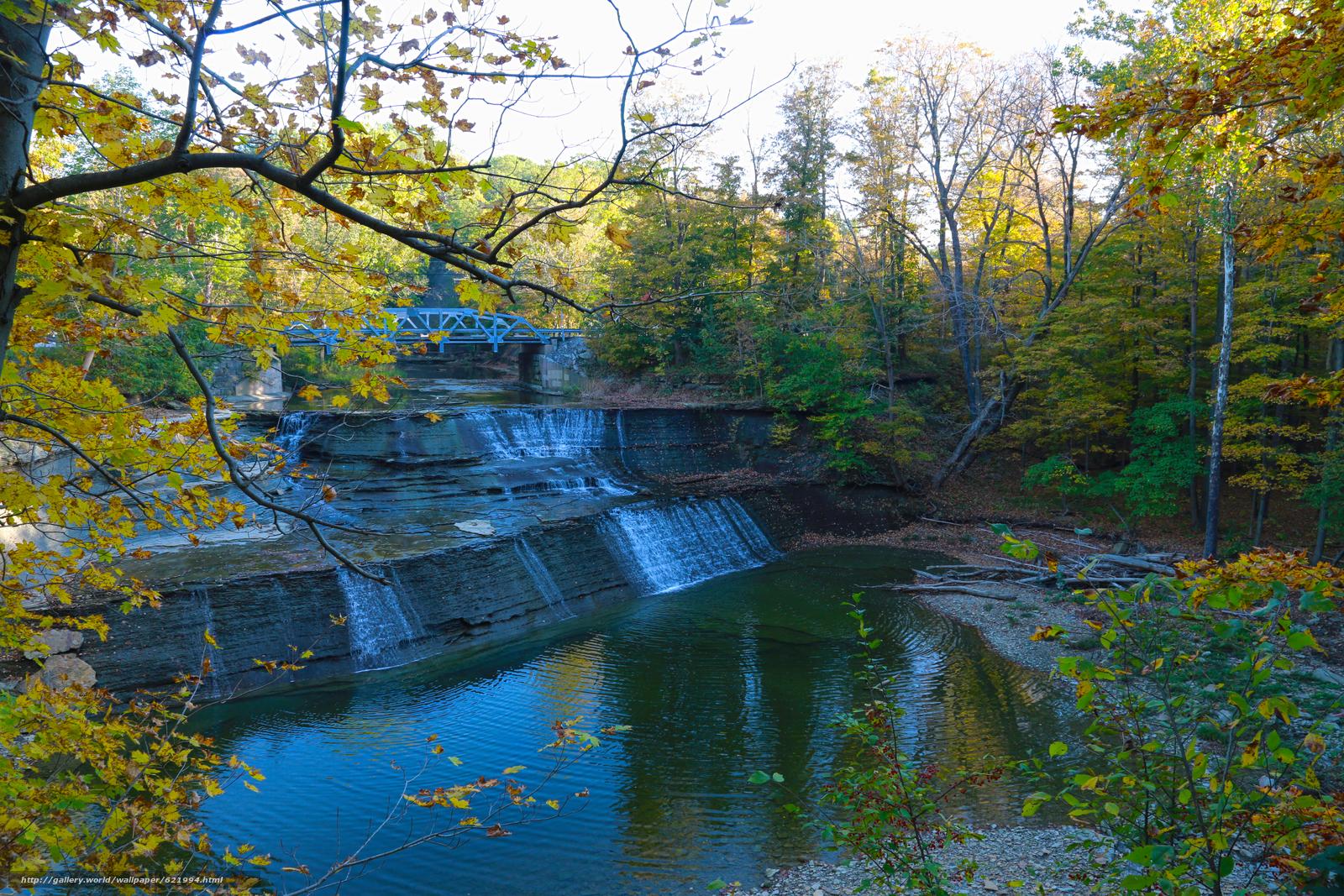Tlcharger Fond d'ecran automne,  forêt,  arbres,  cascade Fonds d'ecran gratuits pour votre rsolution du bureau 5760x3840 — image №621994