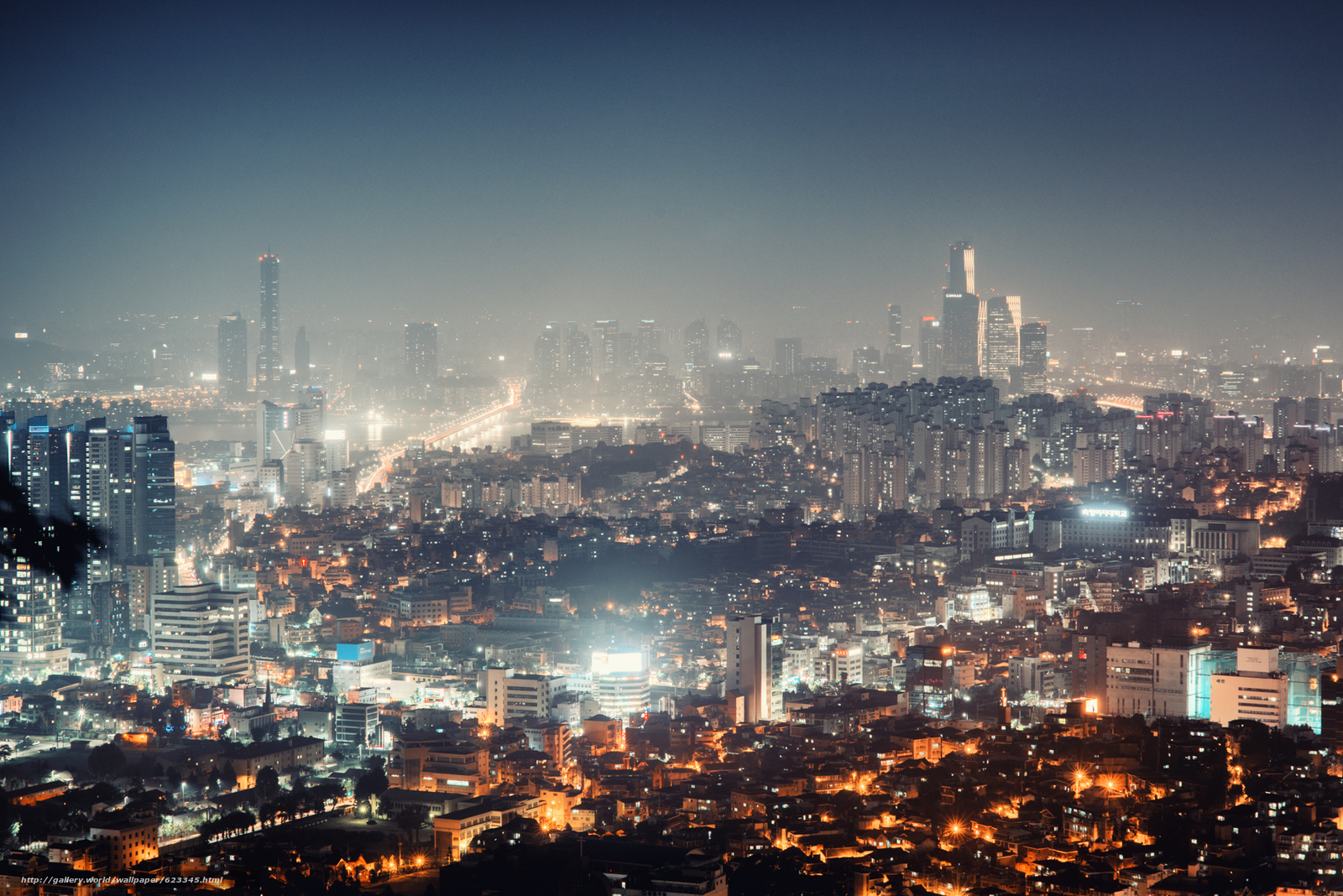 Download wallpaper night home skyscrapers ceul free for Home wallpaper korea