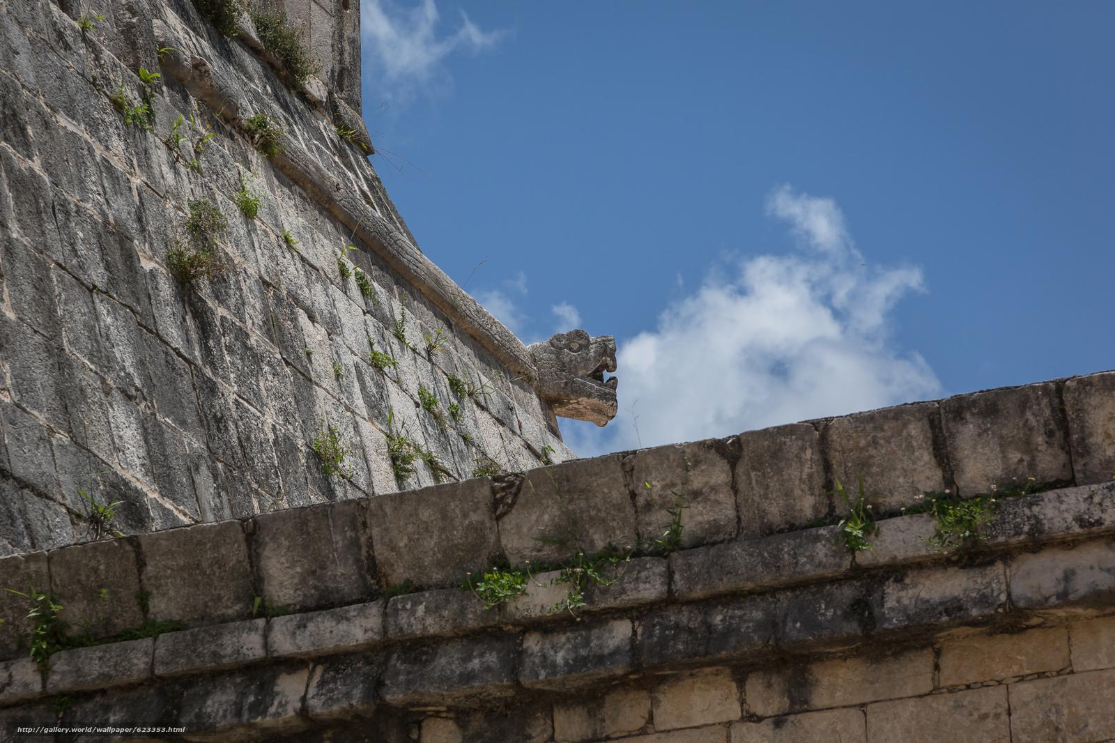 Download wallpaper Chichen Itza,  Yucatan,  Mexico,  architecture free desktop wallpaper in the resolution 2048x1365 — picture №623353