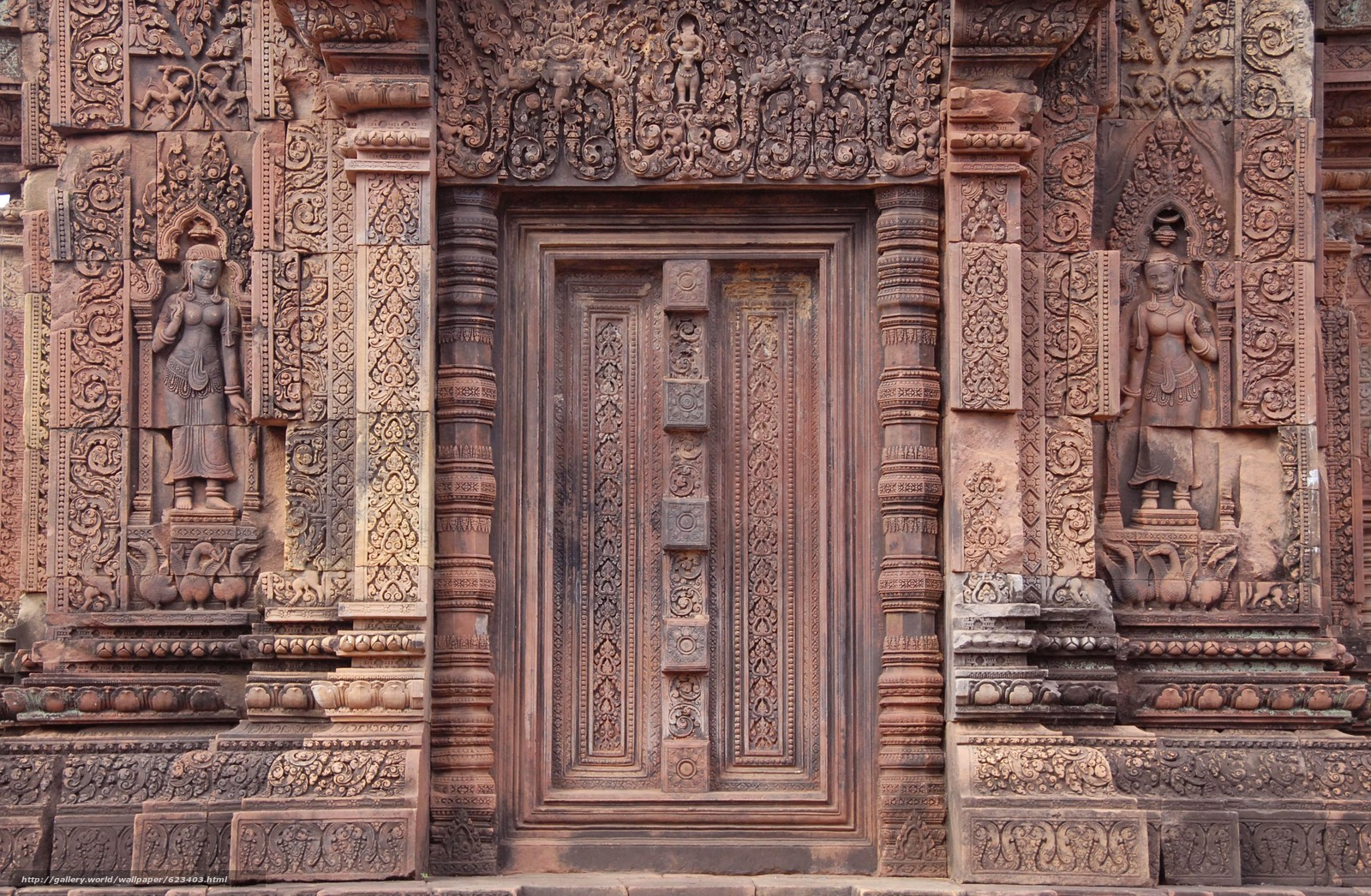 Download wallpaper Banteay Srei,  Siem Reap,  Cambodia,  architecture free desktop wallpaper in the resolution 3700x2420 — picture №623403