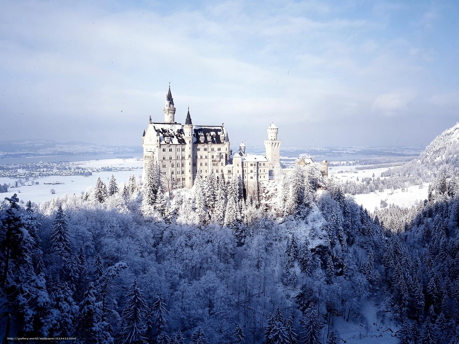 scaricare gli sfondi Castello di Neuschwanstein,  Baviera,  Germania,  Castello di Neuschwanstein Sfondi gratis per la risoluzione del desktop 1920x1440 — immagine №623433
