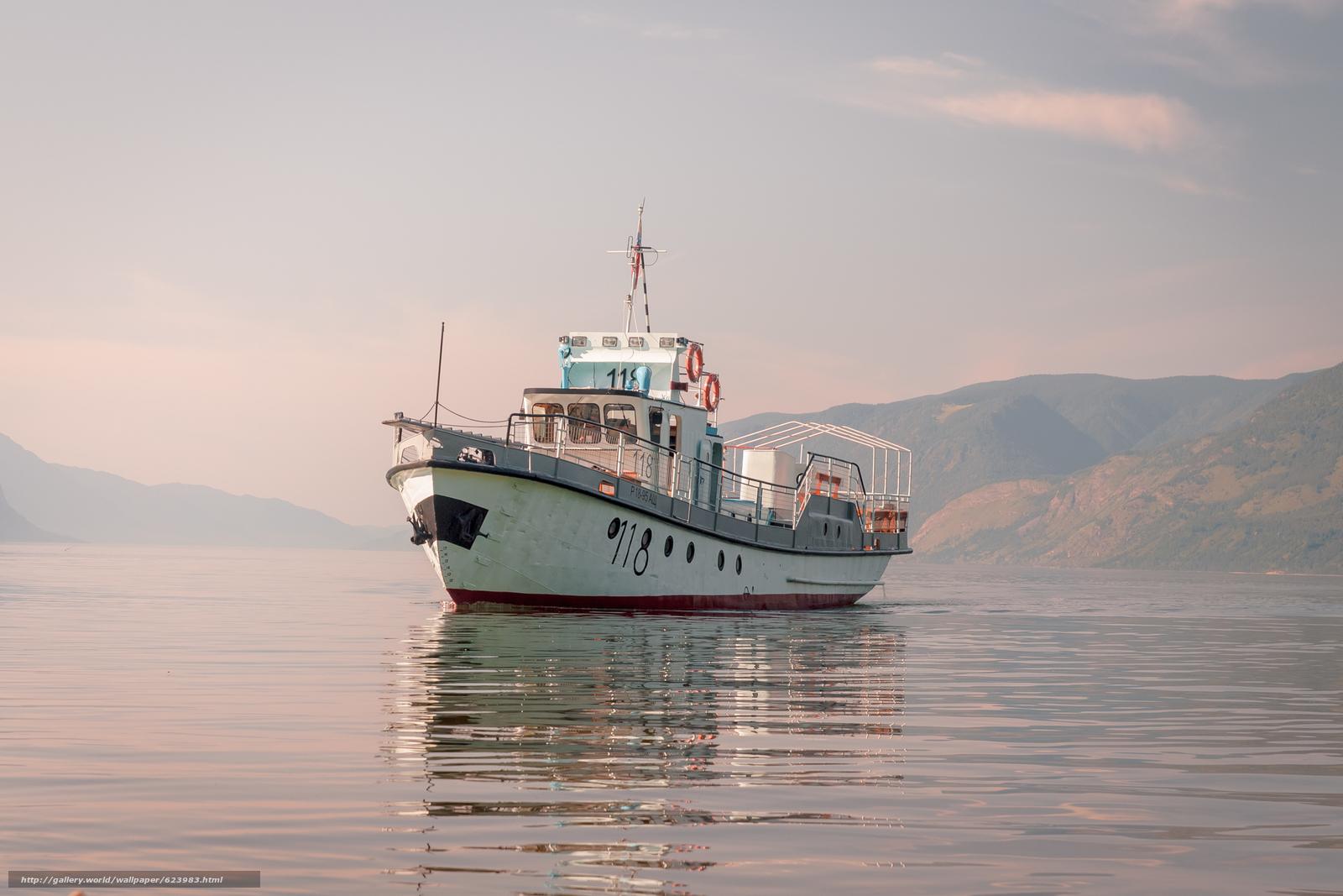 Descargar gratis BARCO,  Lago Teletskoe,  Altai,  Rusia Fondos de escritorio en la resolucin 2145x1430 — imagen №623983