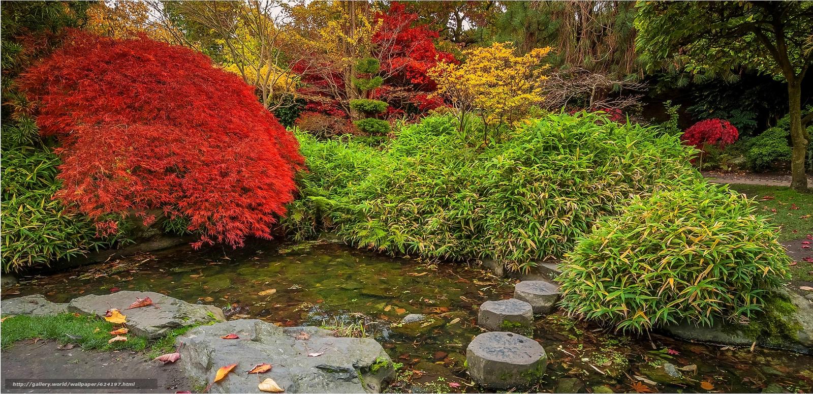 Tlcharger fond d 39 ecran jardin japonais calderstones parc for Jardin japonais fond d ecran