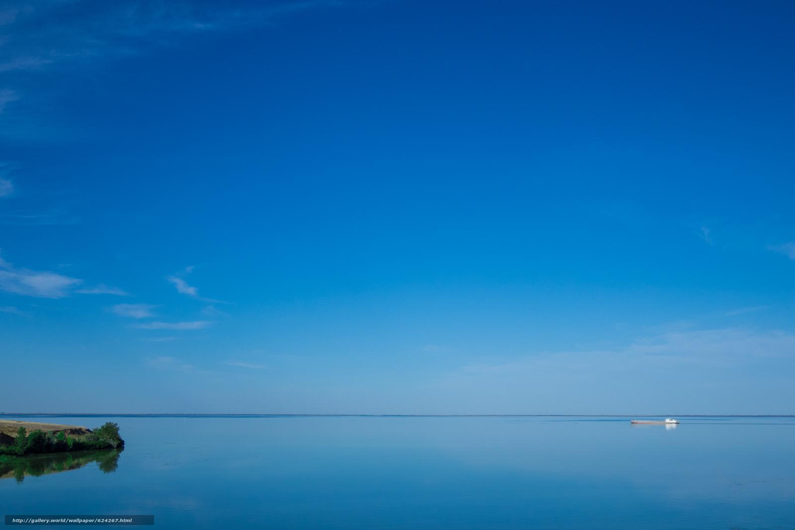 Download wallpaper Volgograd Sea,  Russia,  ship,  sky free desktop wallpaper in the resolution 3000x2000 — picture №624267
