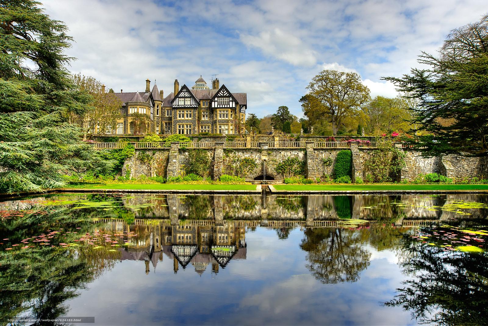 Скачать обои Bodnant Gardens,  Great Britain,  парк,  дом бесплатно для рабочего стола в разрешении 2700x1800 — картинка №624333
