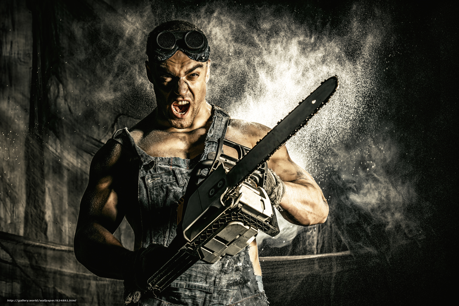 Download wallpaper guy,  hunky,  glasses,  chainsaw free desktop wallpaper in the resolution 5600x3737 — picture №624891
