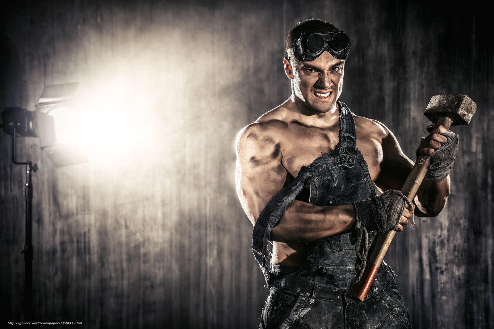 Download wallpaper guy,  grimy,  hunky,  Sledgehammer free desktop wallpaper in the resolution 5600x3737 — picture №624892