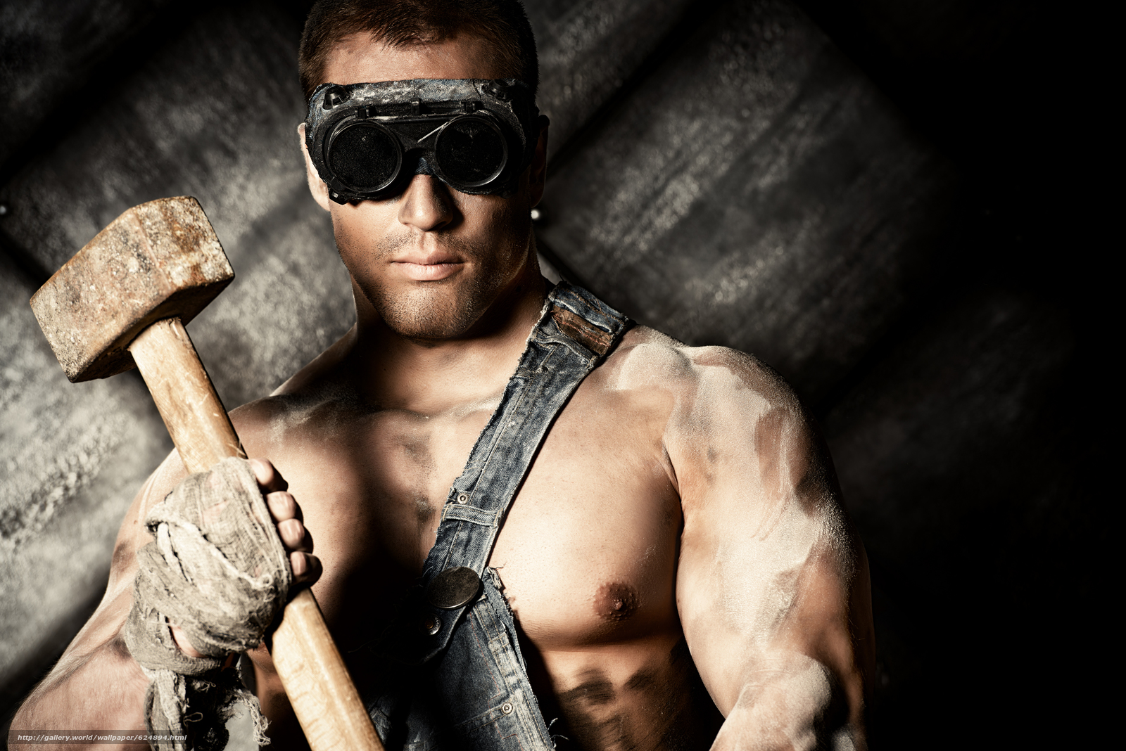 Download wallpaper guy,  hunky,  glasses,  Sledgehammer free desktop wallpaper in the resolution 5600x3737 — picture №624894