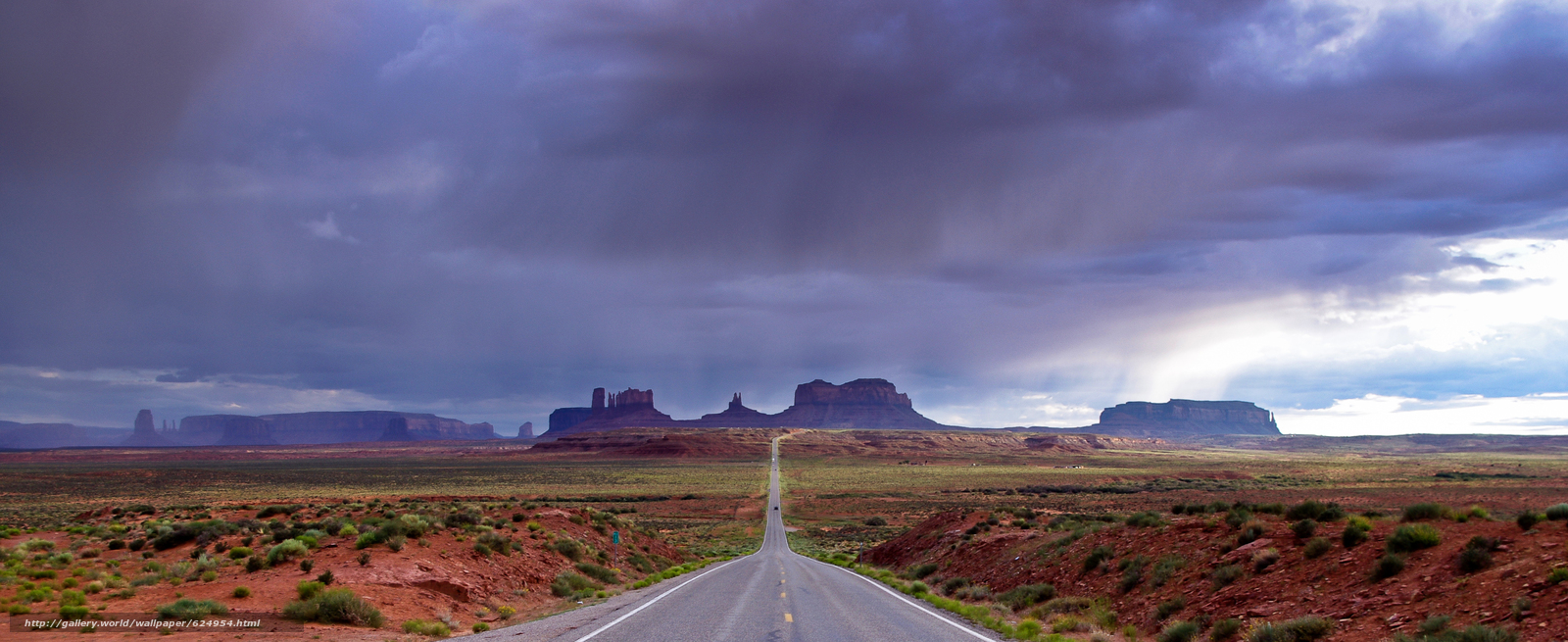 Download wallpaper Monument Valley,  Utah,  road,  CLOUDS free desktop wallpaper in the resolution 4288x1755 — picture №624954