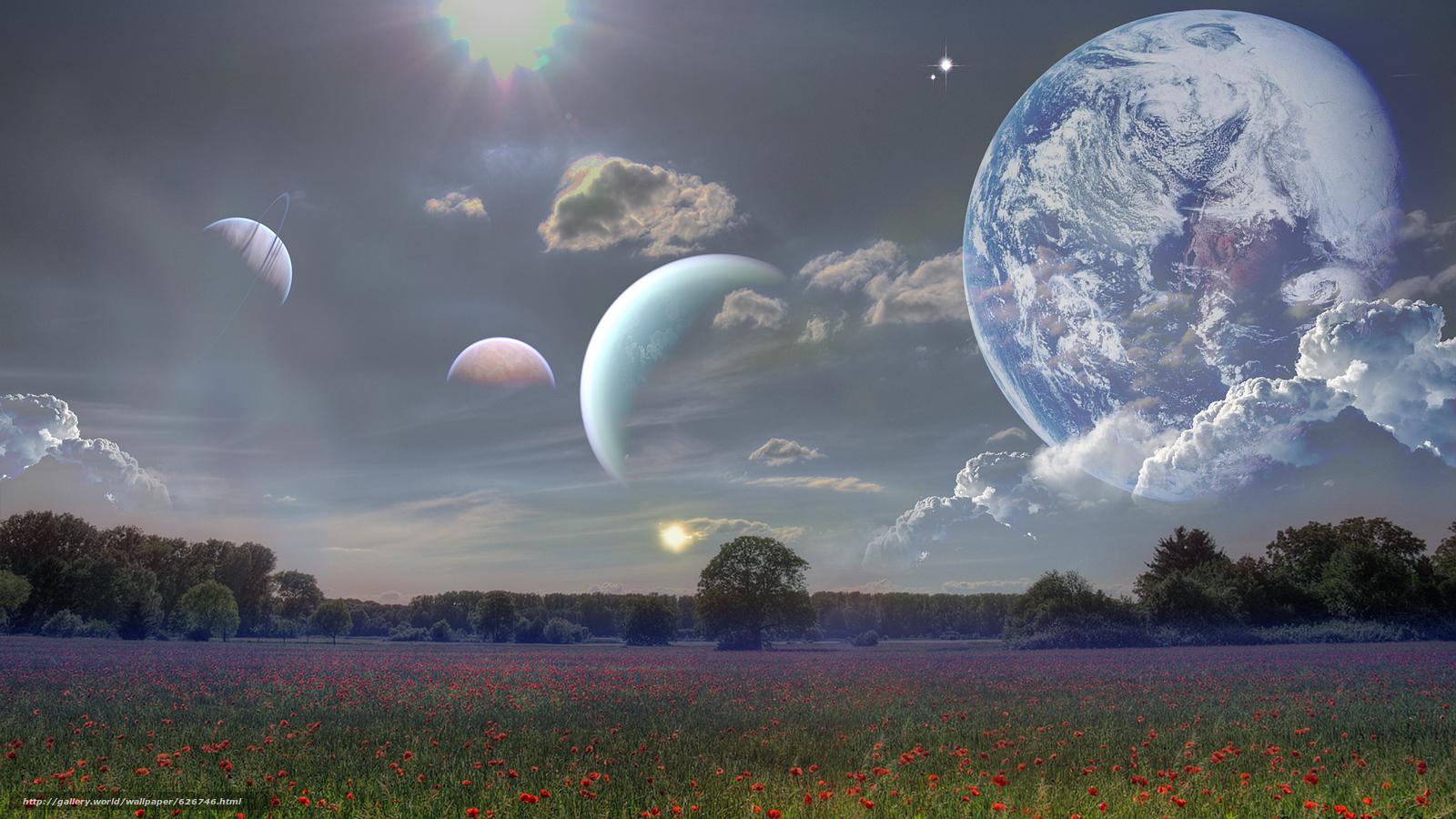 下载壁纸场天空地球免费为您的桌面分辨率的壁纸1920x1080—