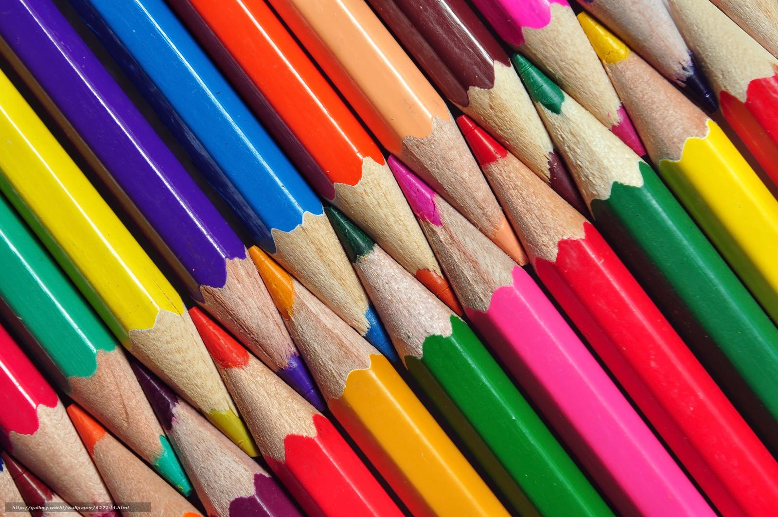 下载壁纸 铅笔,  颜色,  纹理 免费为您的桌面分辨率的壁纸 4288x2848 — 图片 №627244