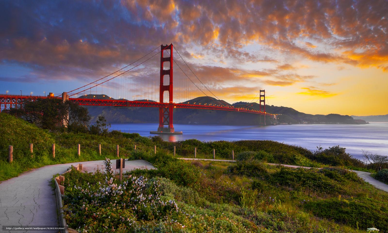 scaricare gli sfondi Il Golden Gate Bridge,  il Golden Gate,  Frisco Sfondi gratis per la risoluzione del desktop 22500x13500 — immagine №628133