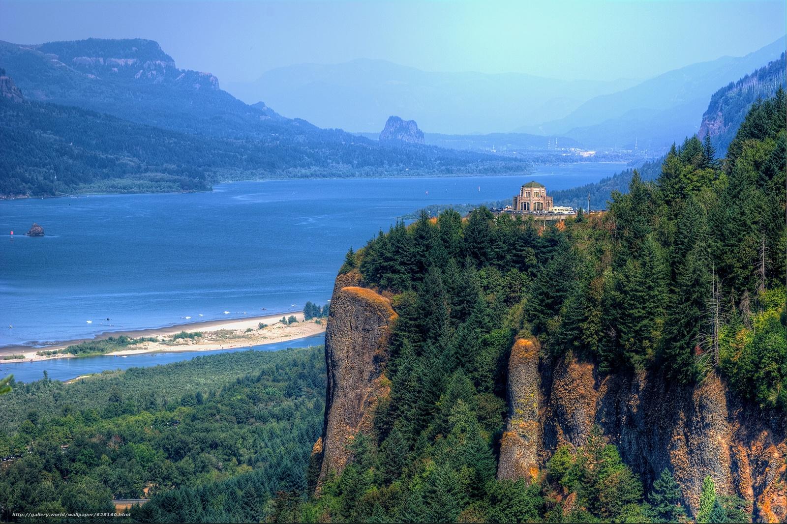 Скачать обои Виста Дом,  Краун Пойнт,  в ущелье реки Колумбия,  Орегон бесплатно для рабочего стола в разрешении 6036x4020 — картинка №628160