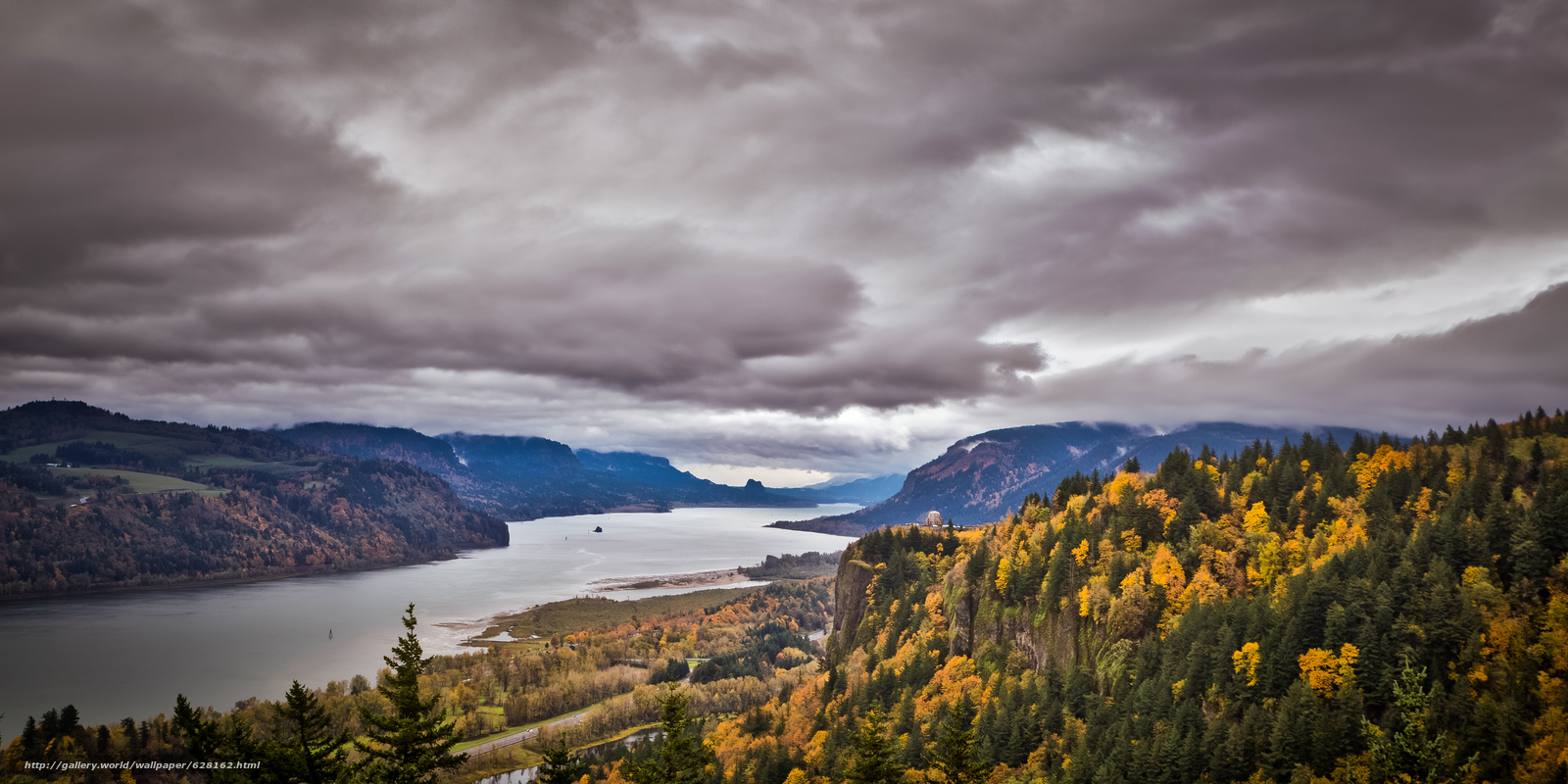 Download wallpaper Vista House, Crown Point, in Columbia River Gorge ...