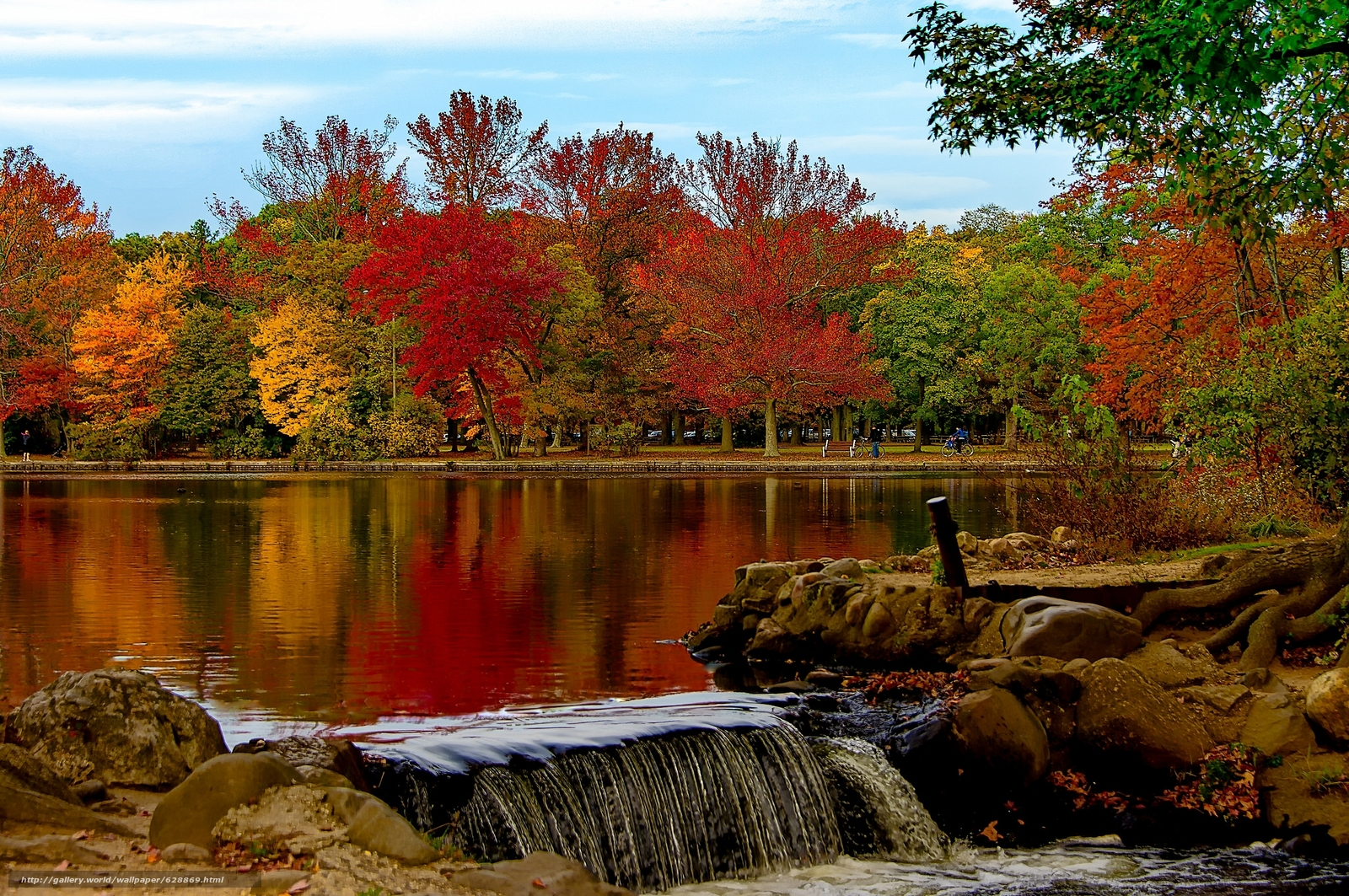 Download wallpaper Belmont Lake,  Belmont Lake State Park,  Babylon,  New York free desktop wallpaper in the resolution 2048x1361 — picture №628869