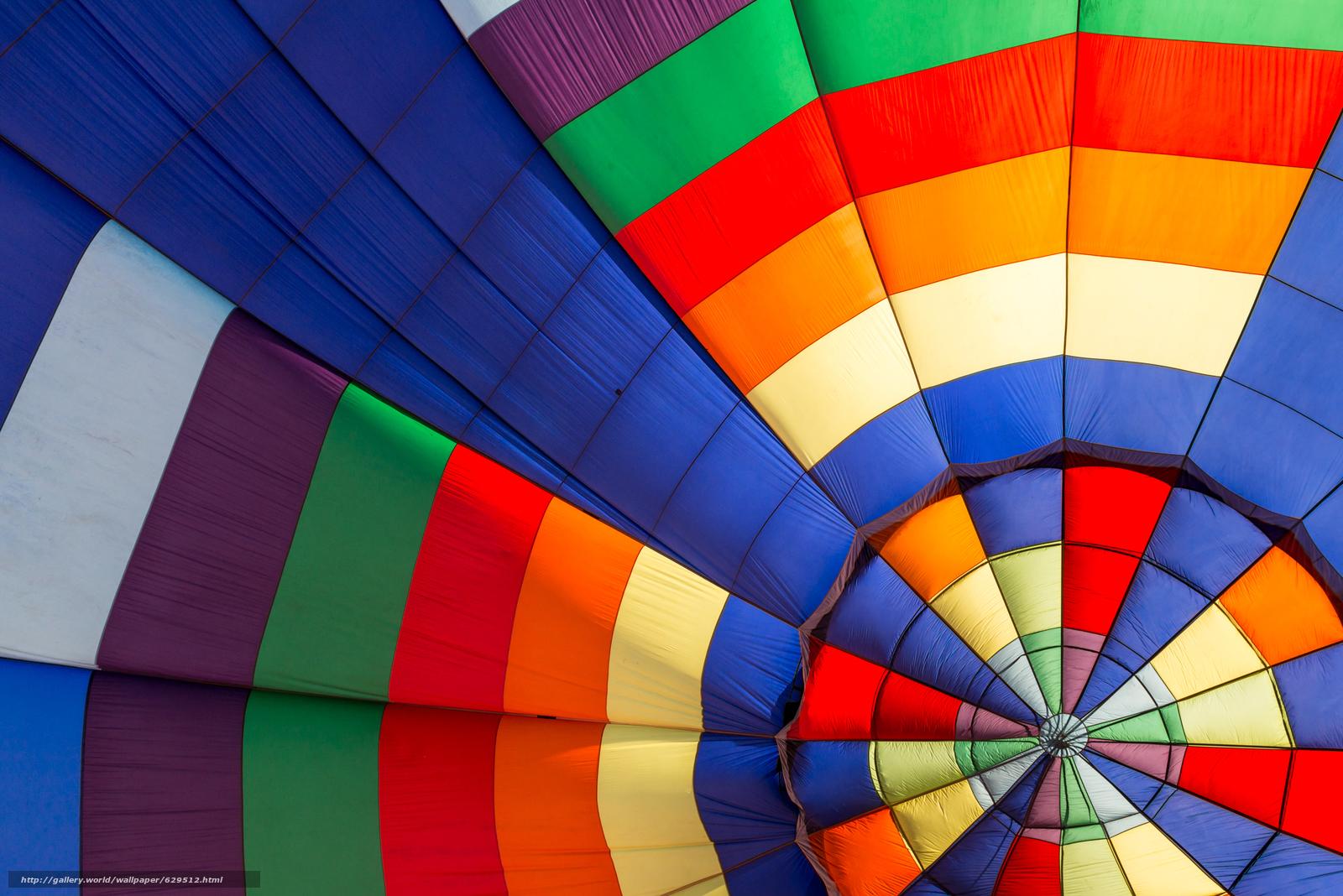 Скачать обои аэростат,  воздушный шар,  разноцветный бесплатно для рабочего стола в разрешении 2400x1602 — картинка №629512
