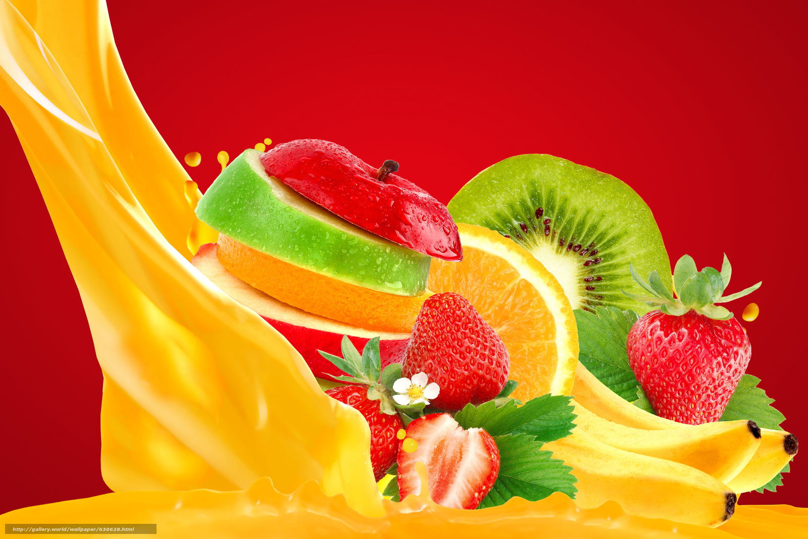 Download wallpaper juice,  fruit,  BERRY,  vitamins free desktop wallpaper in the resolution 6614x4412 — picture №630628