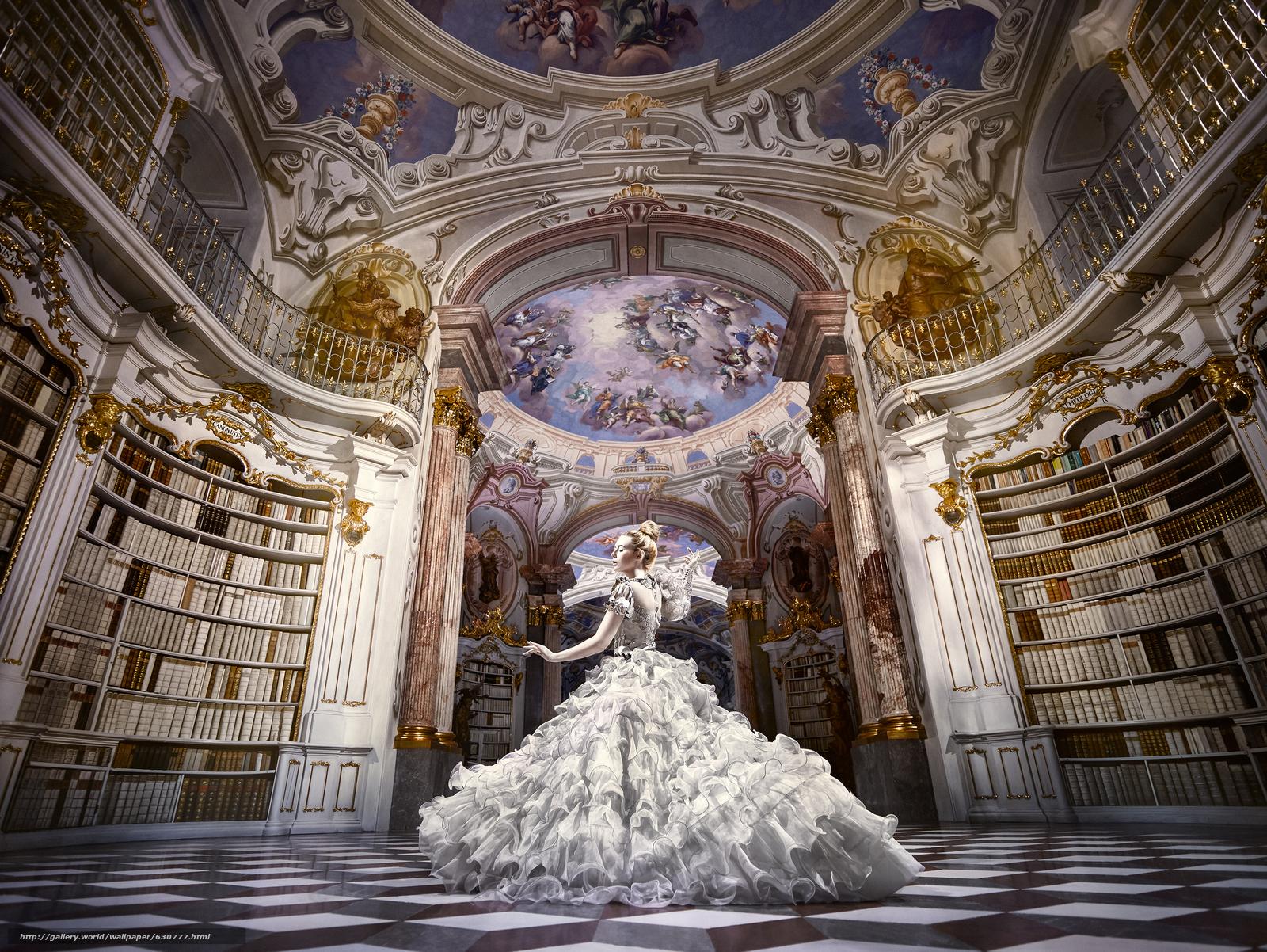 Download wallpaper girl,  dance,  dress,  hall free desktop wallpaper in the resolution 3000x2254 — picture №630777